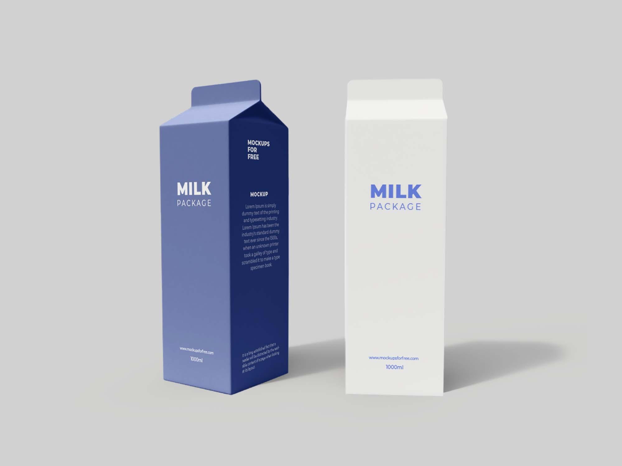 Tetra Pack Packaging Mockup