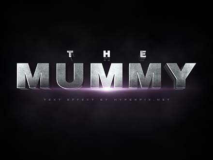 The Mummy Cinematic 3D Text Effect