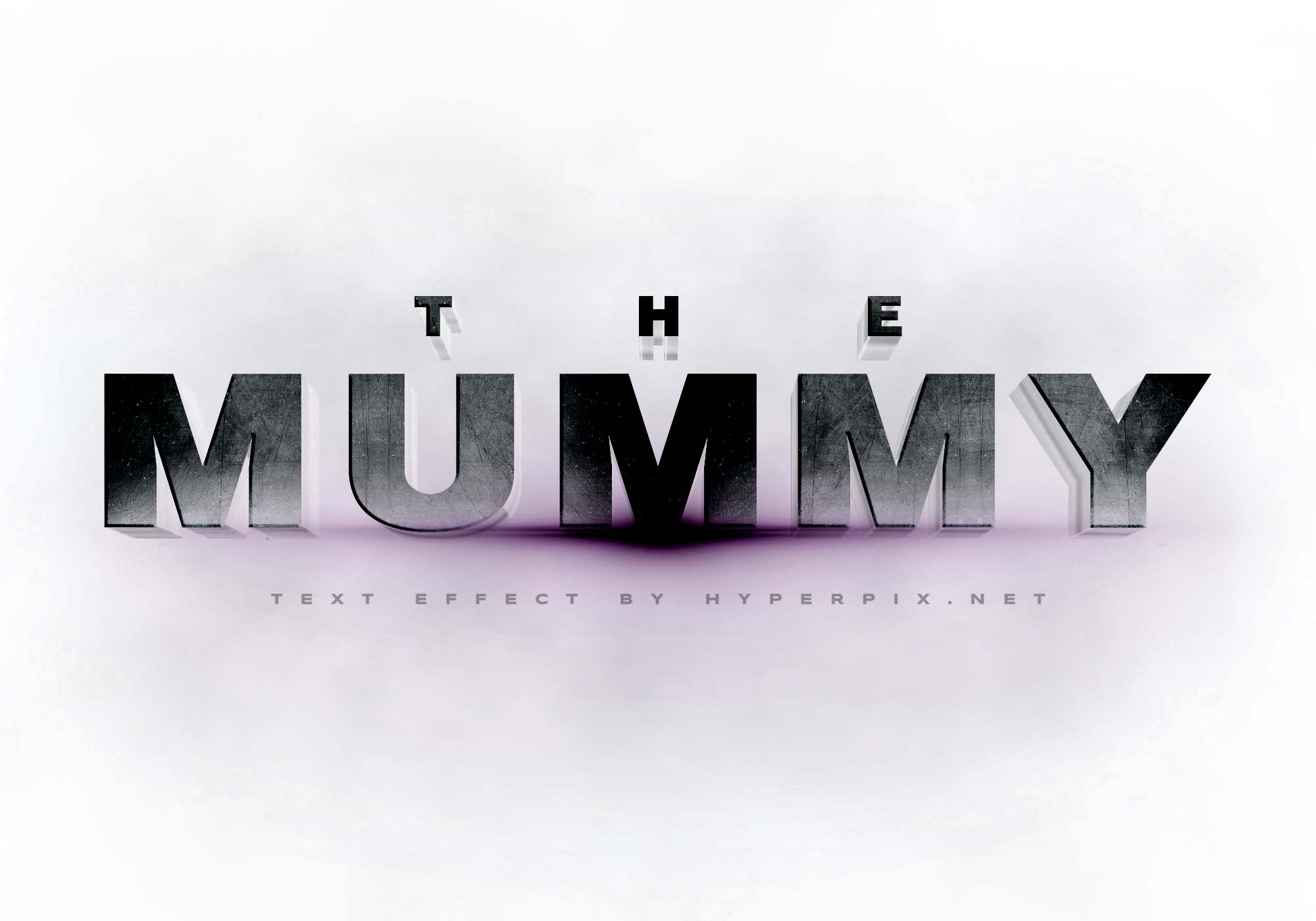 The Mummy Cinematic 3D Text Effect 2
