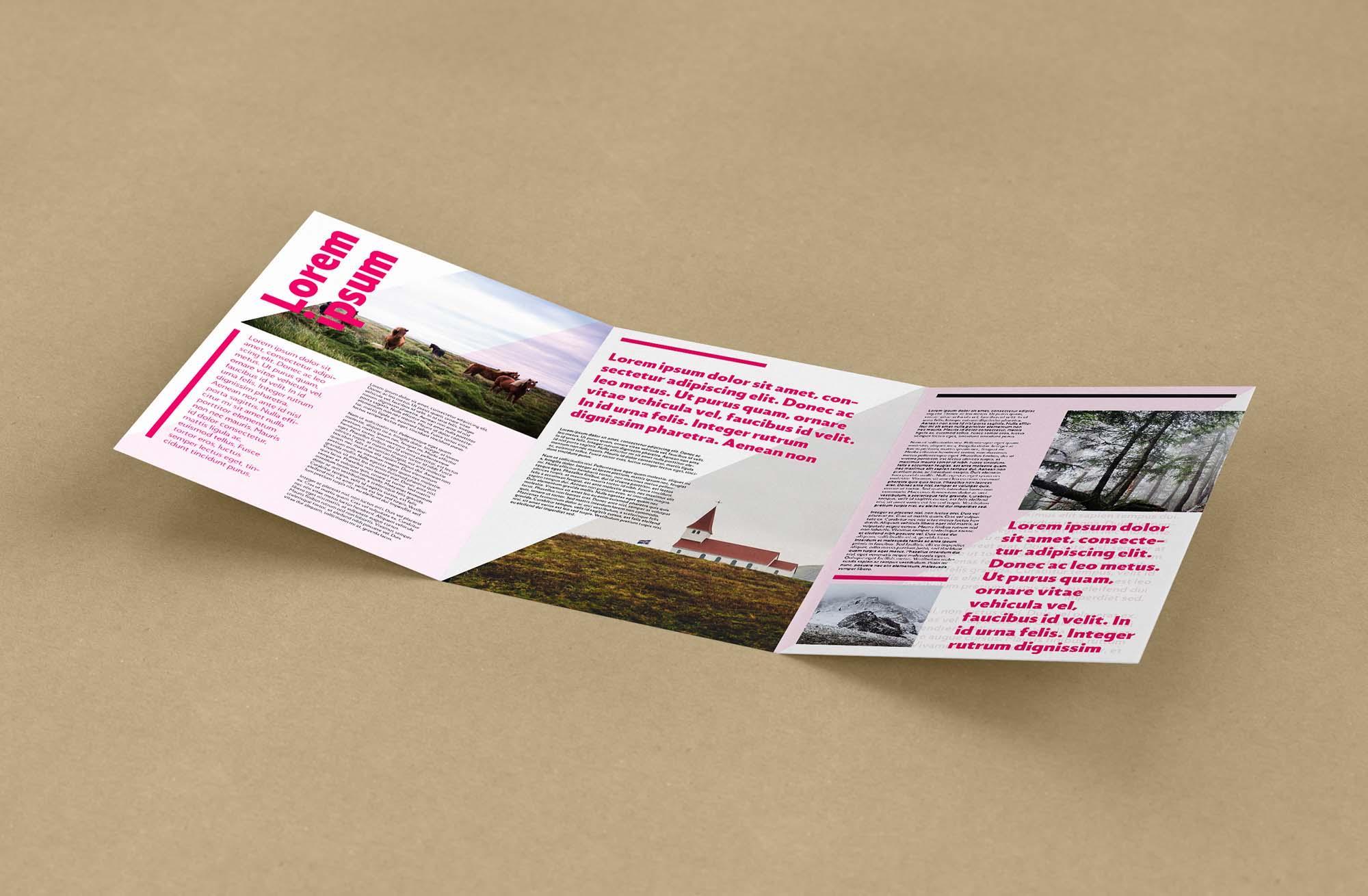 Trifold Leaflet Mockup 3