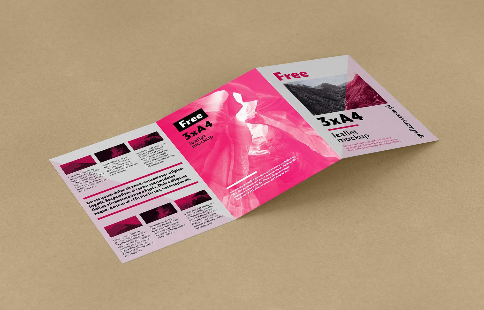Trifold Leaflet Mockup 2