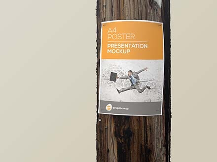 Utility Pole Poster Mockup