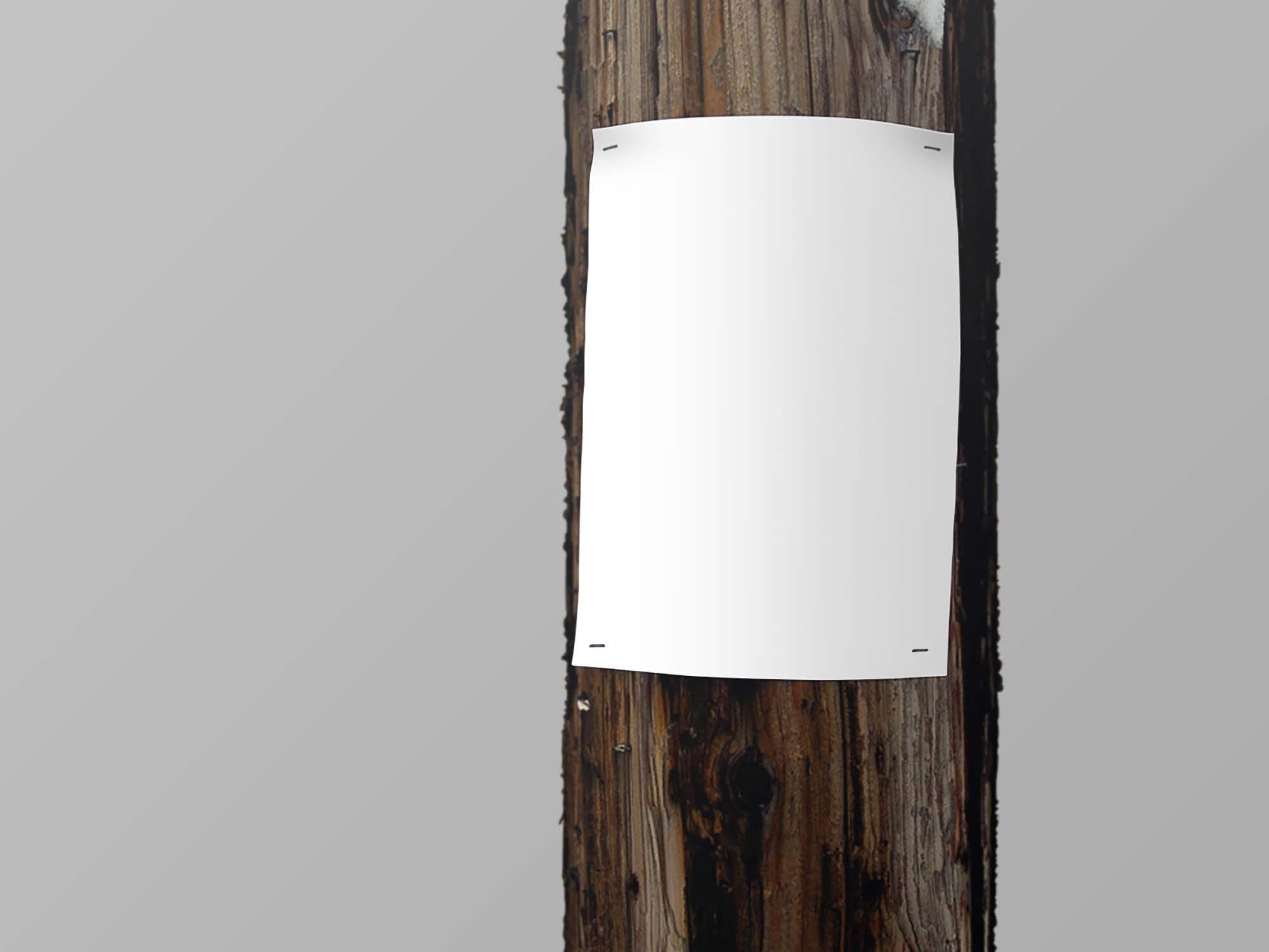 Utility Pole Poster Mockup PSD
