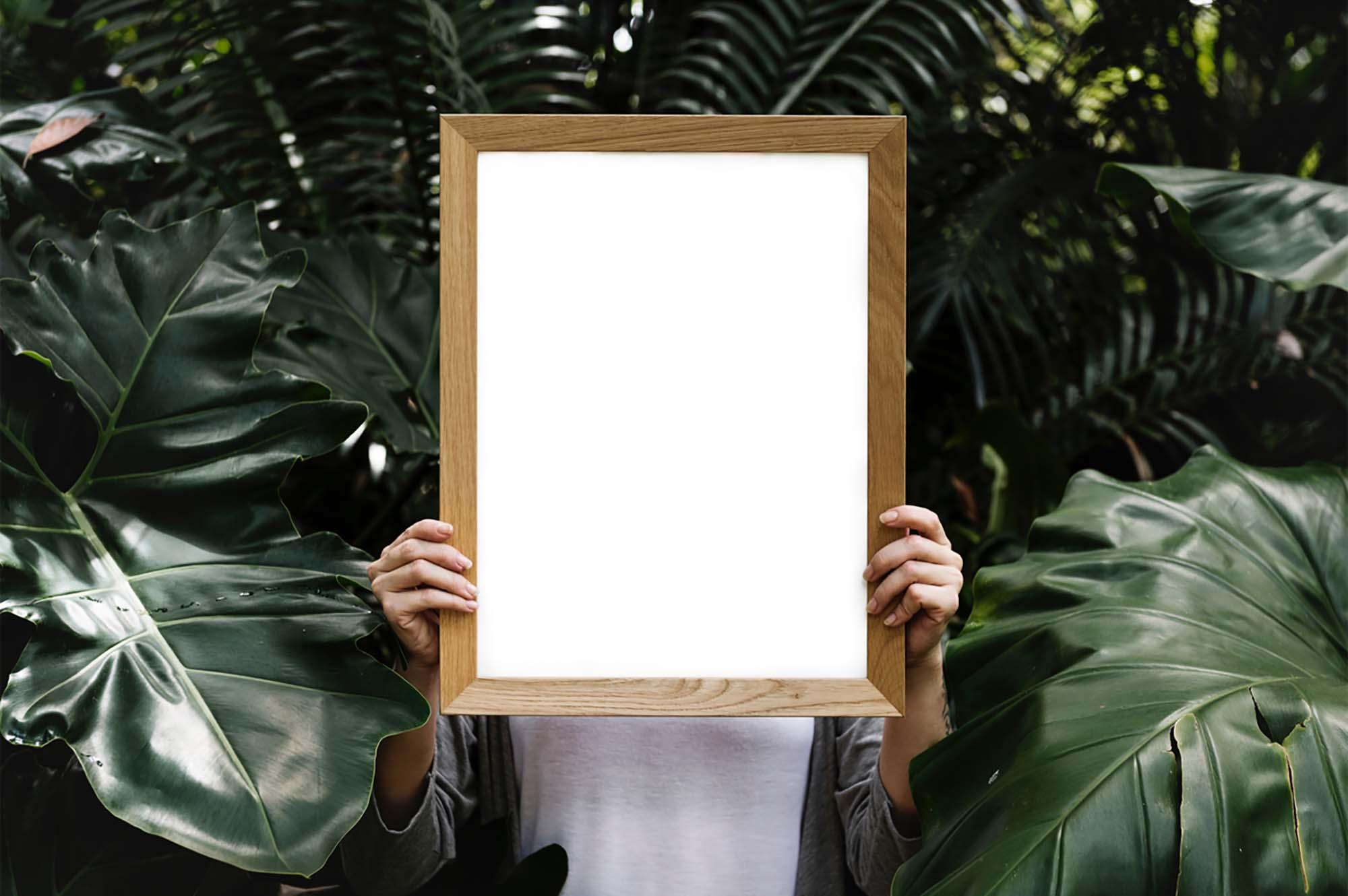 Women Holding Frame Mockup 2