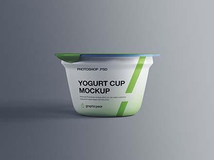 Yogurt PlYogurt Plastic Cup Mockupastic Cup Mockup 1