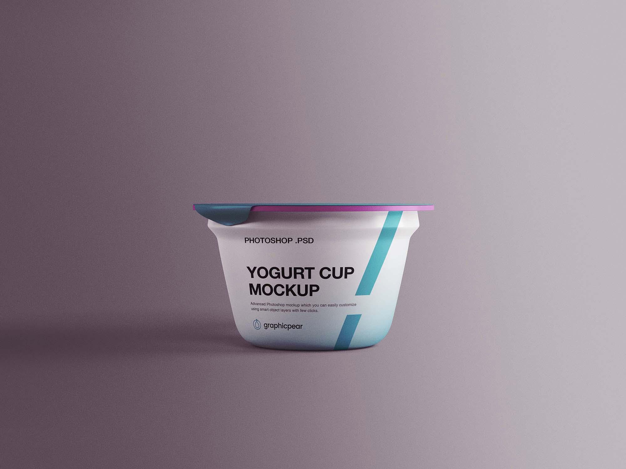 Yogurt Plastic Cup Mockup 2