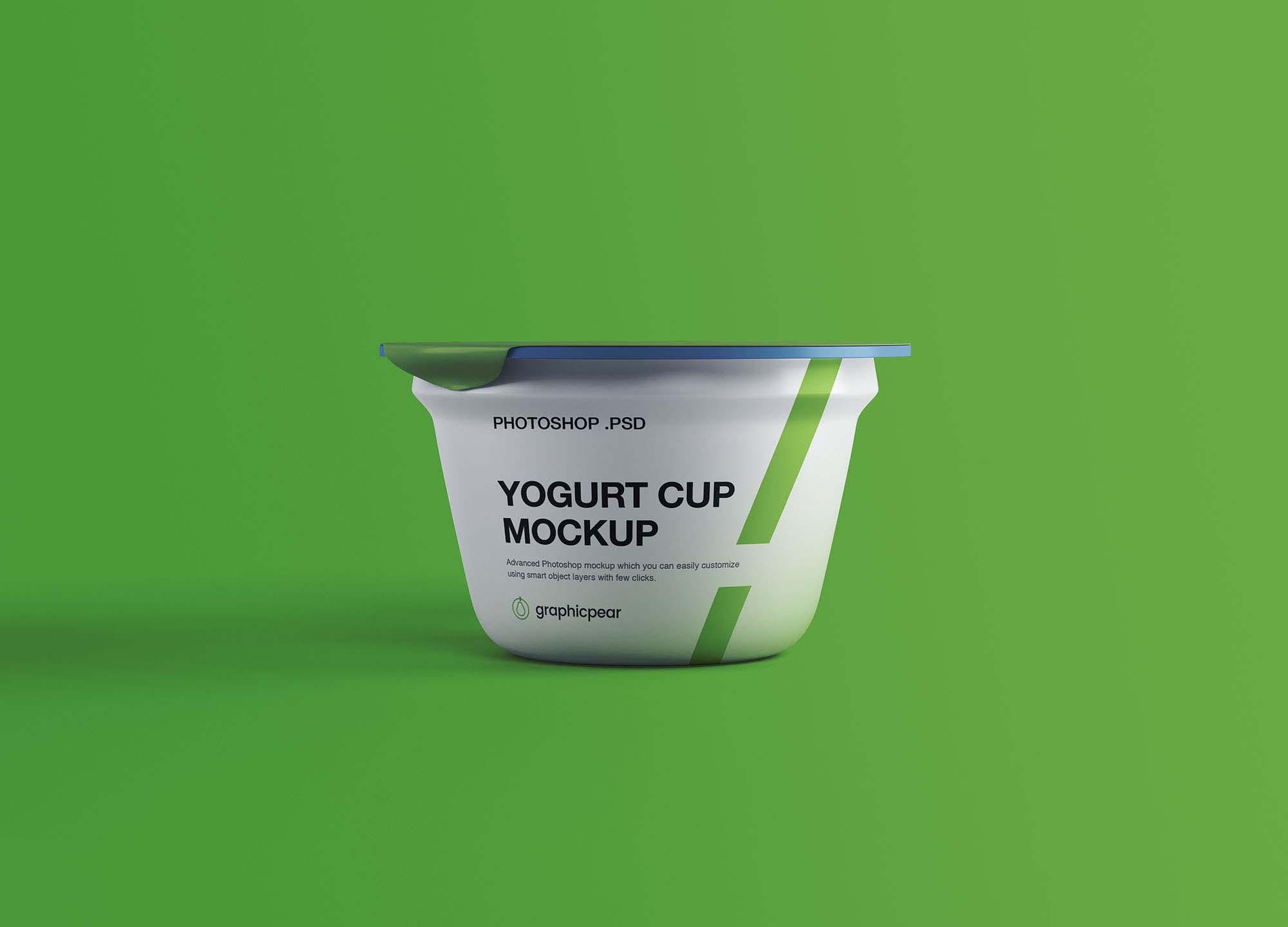 Free Yogurt Plastic Cup Mockup Psd