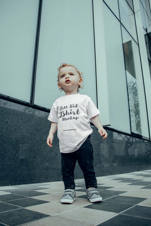 Young Kid T-shirt Mockup