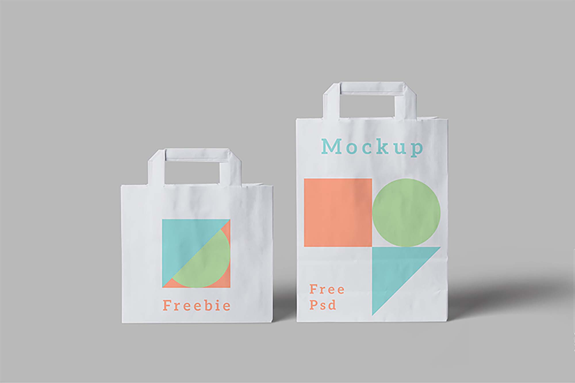 2 Sizes Paper Bag Mockup