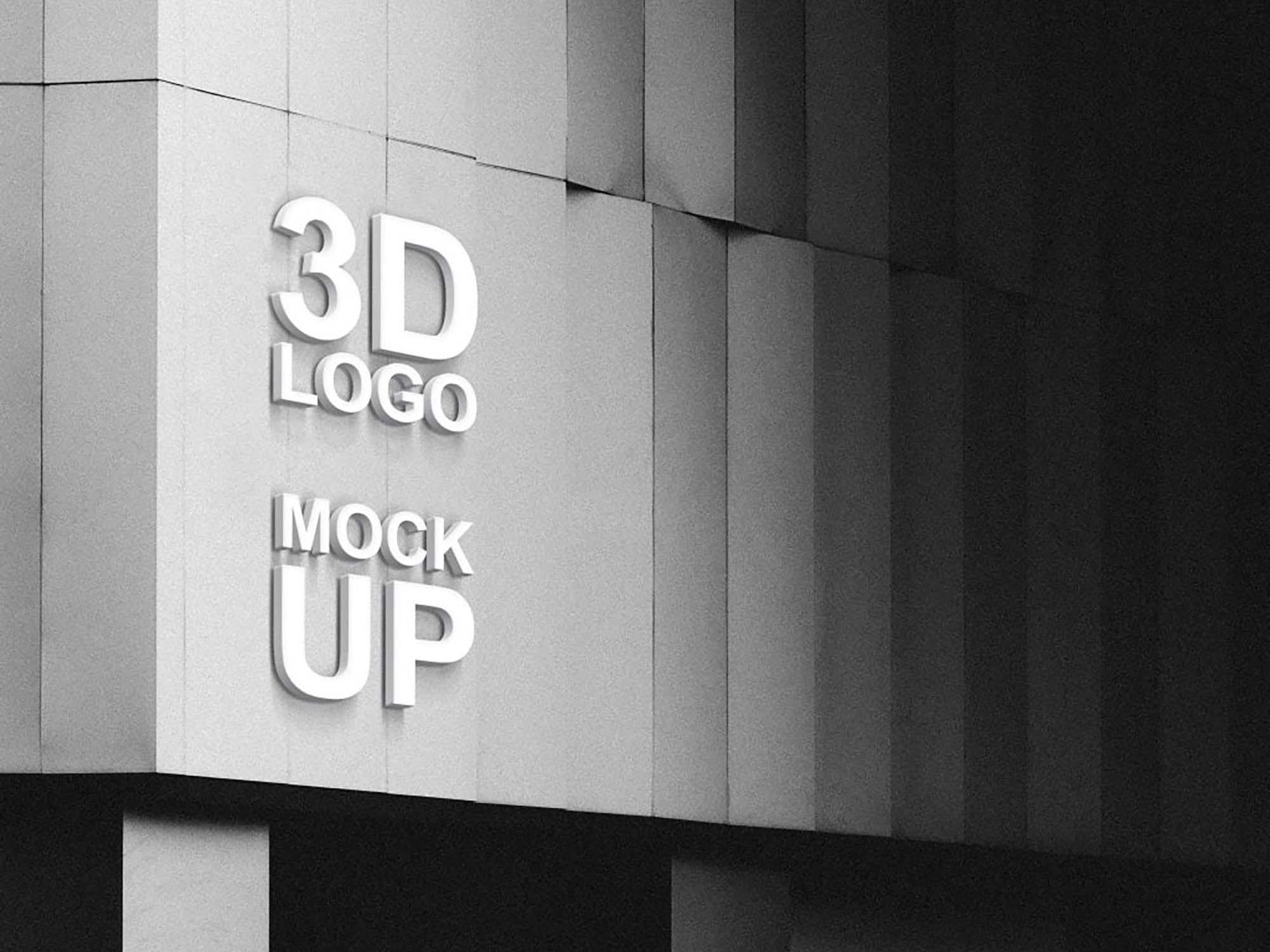 3D Logo Mockup 2