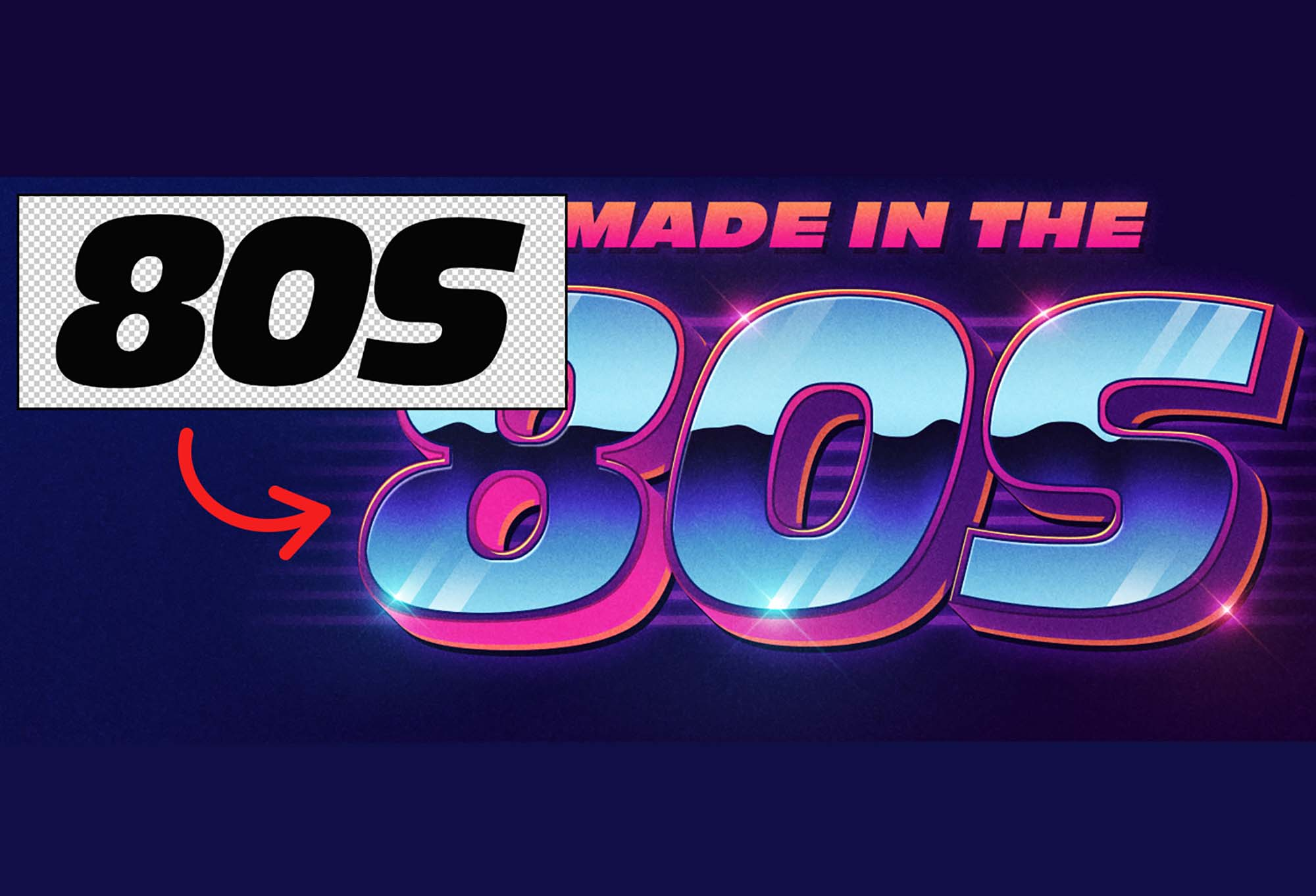 80's Style Text Effect
