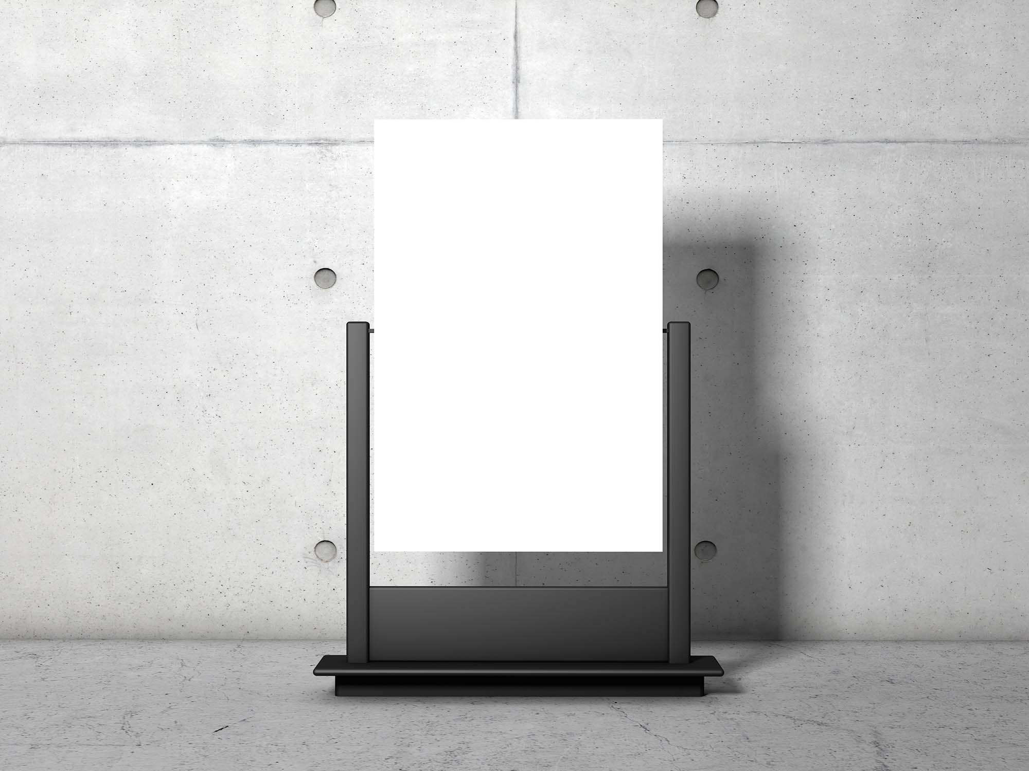 Advertising Stand Poster Mockup PSD