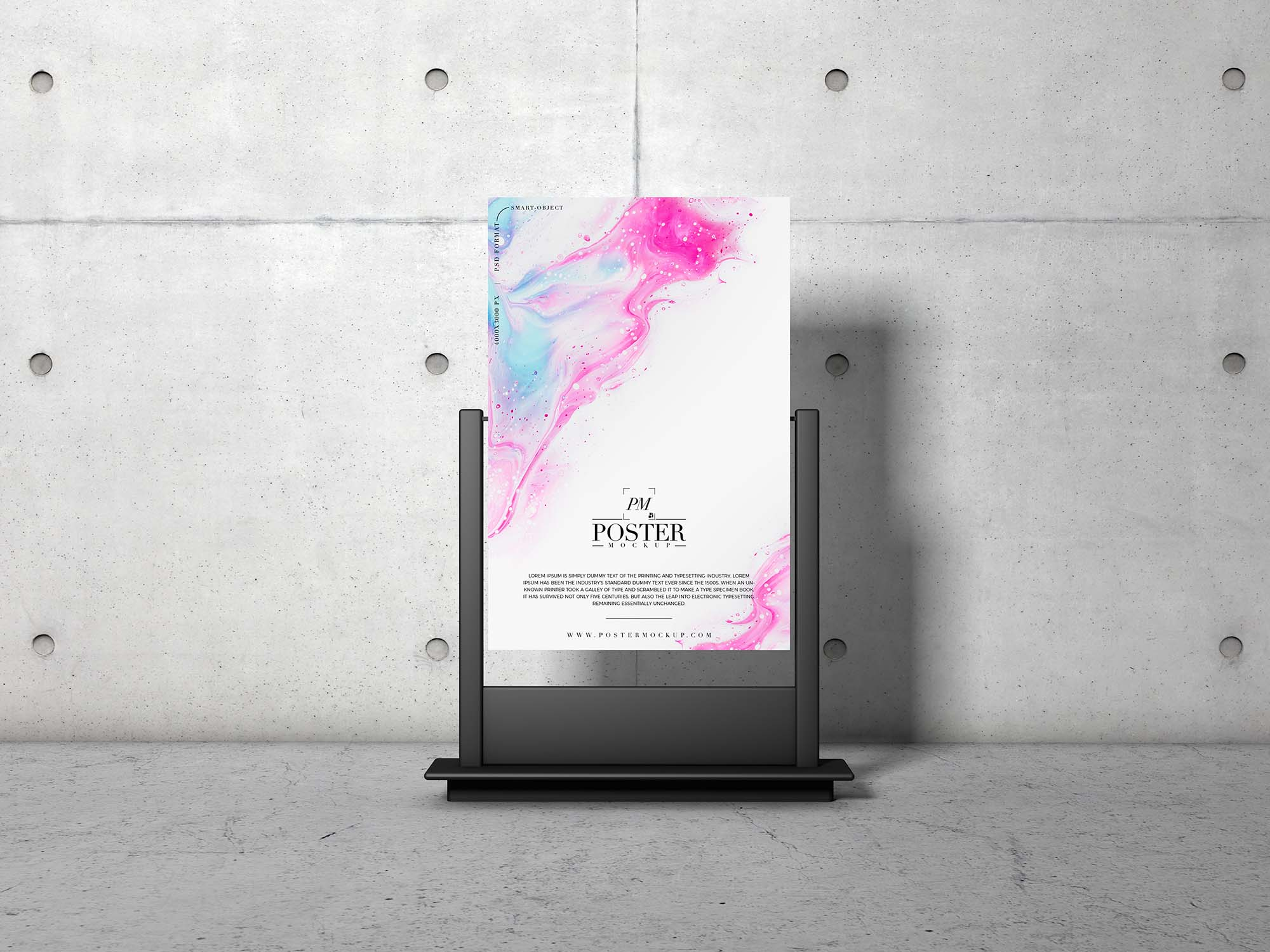 Advertising Stand Poster Mockup