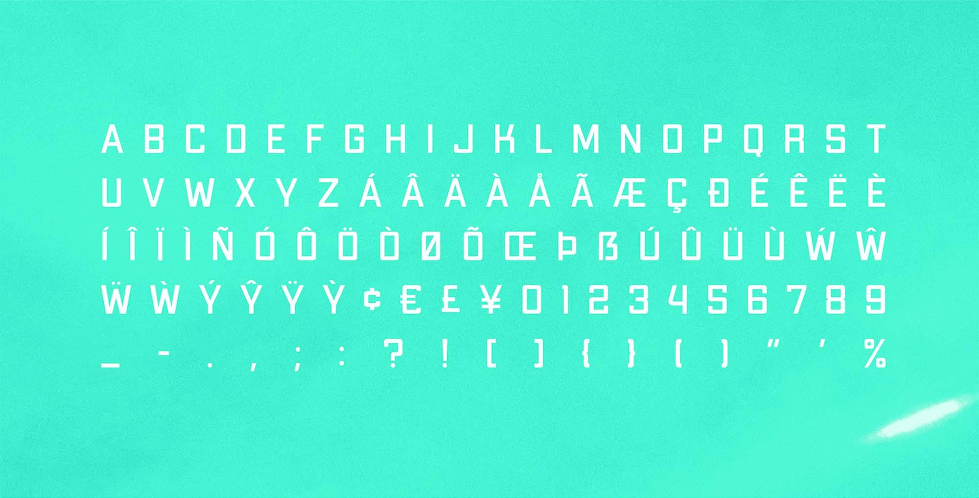 Apex MK3 Typeface Uppercase
