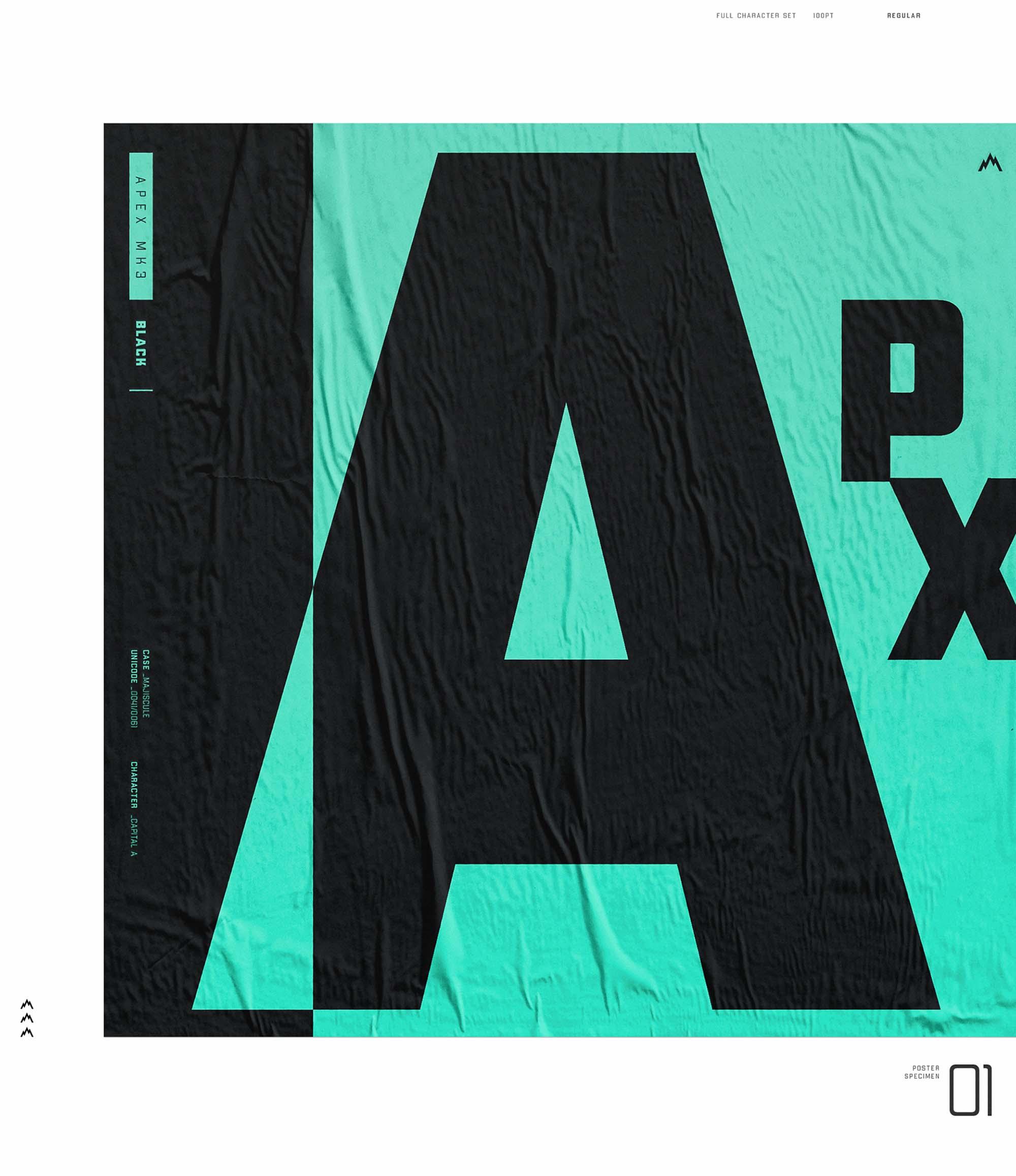 Apex MK3 Typeface 2
