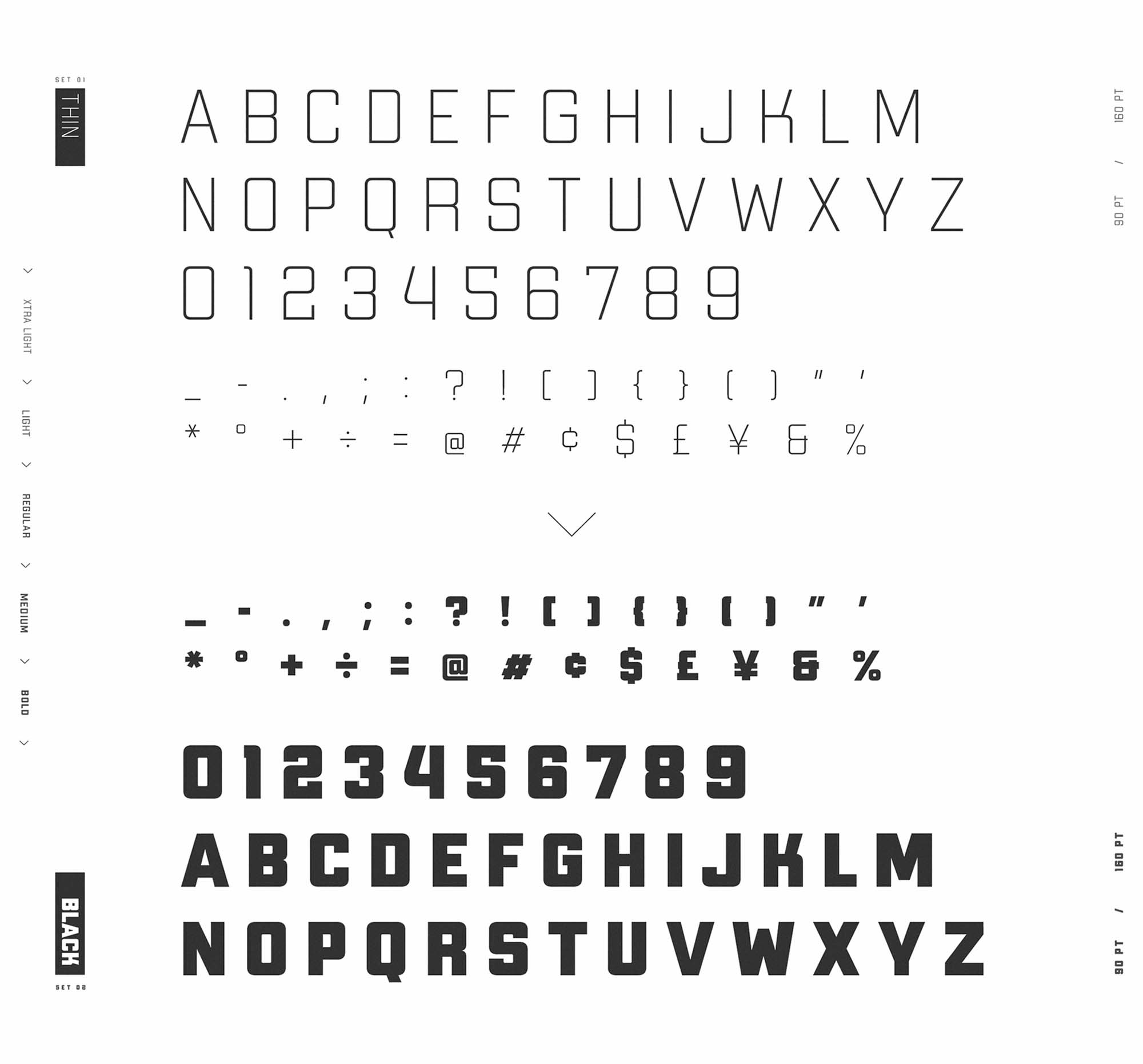 Apex MK3 Typeface Weights