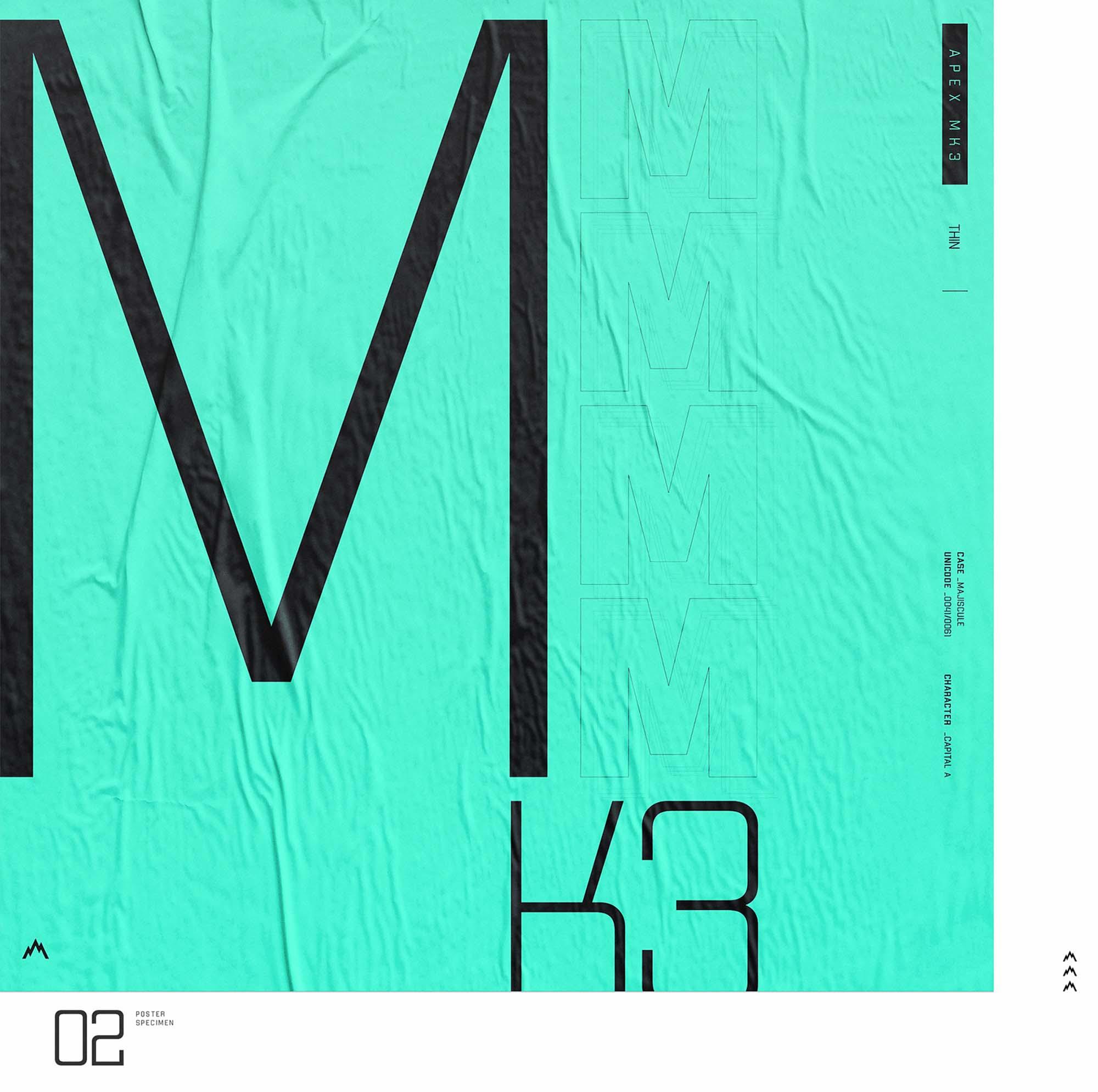Apex MK3 Typeface 3