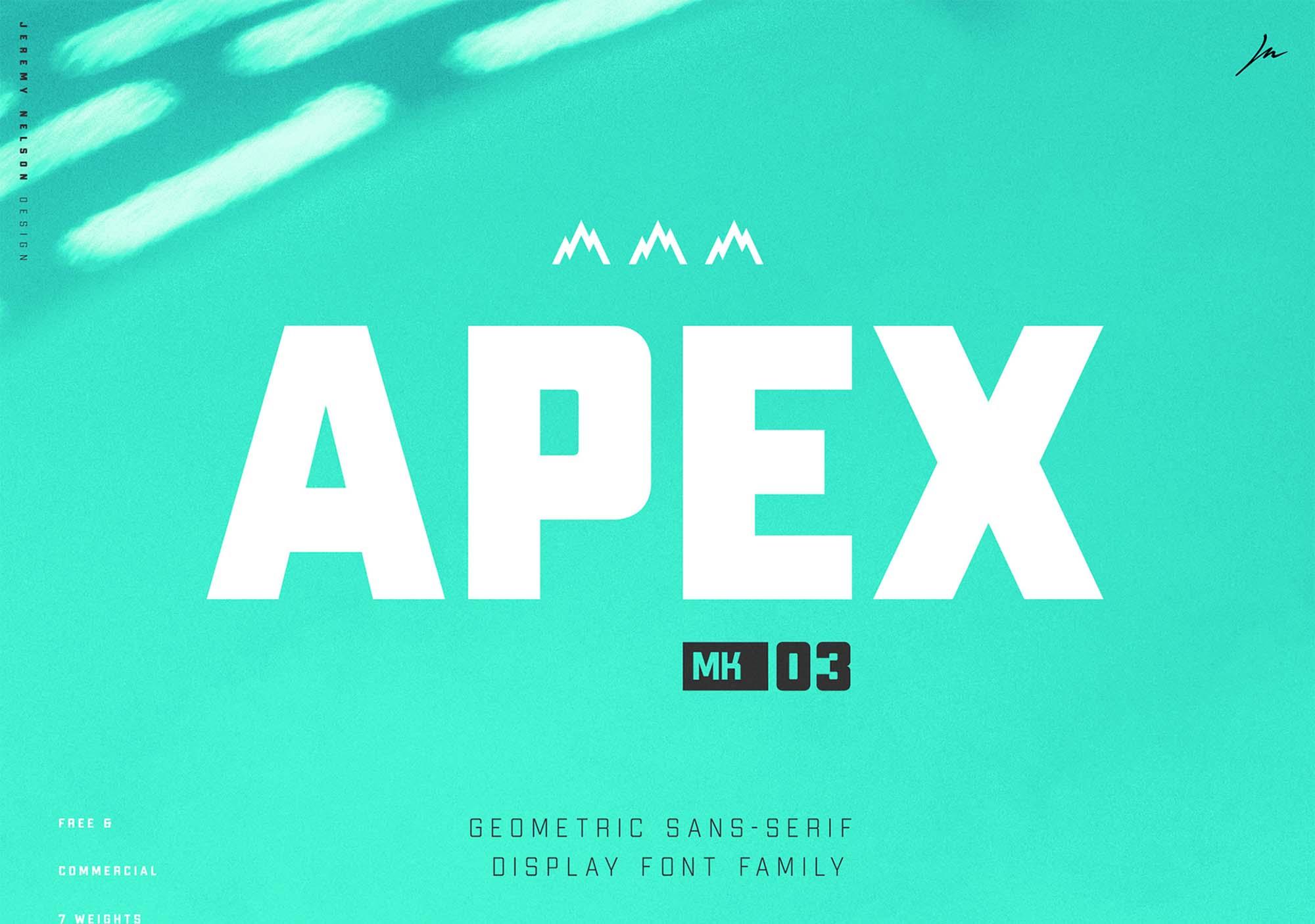 Apex MK3 Typeface
