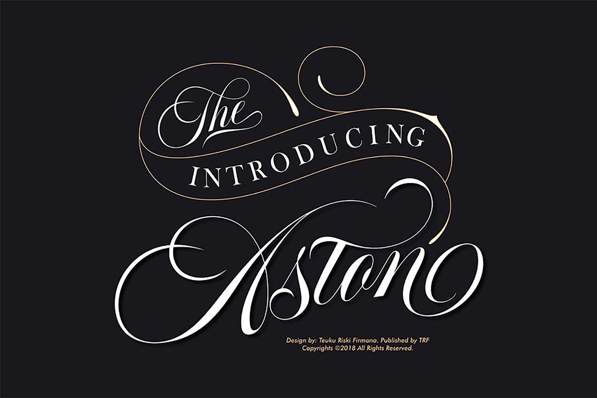 Aston Calligraphy Font 10