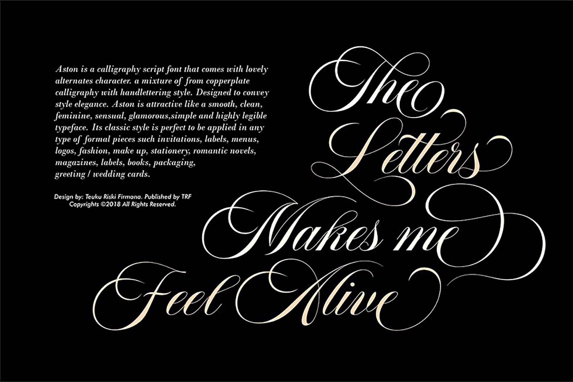 Aston Calligraphy Font 2