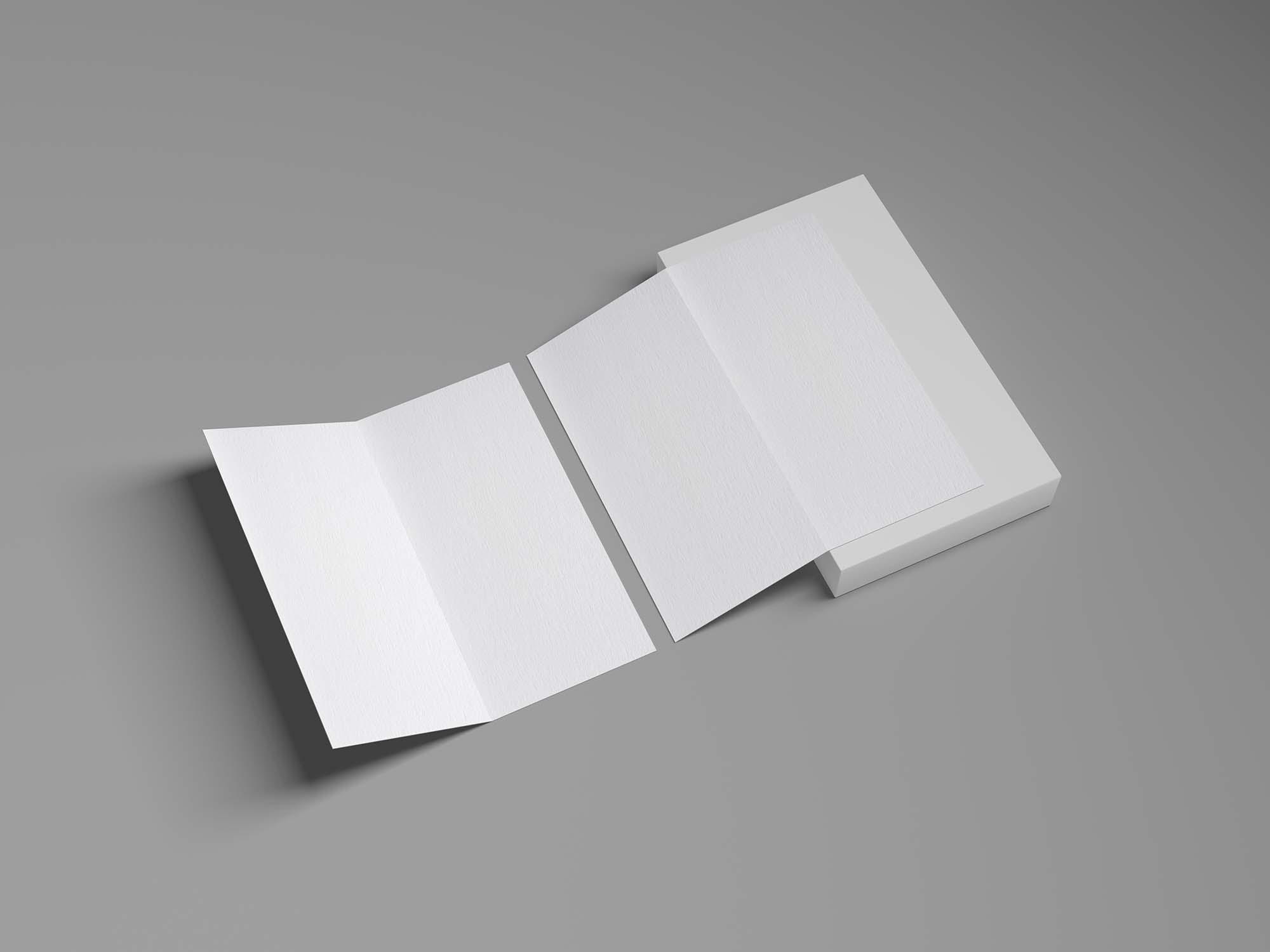 Branding Bi-Fold Brochure Mockup 3
