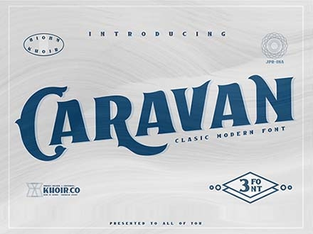 Caravan Display Font