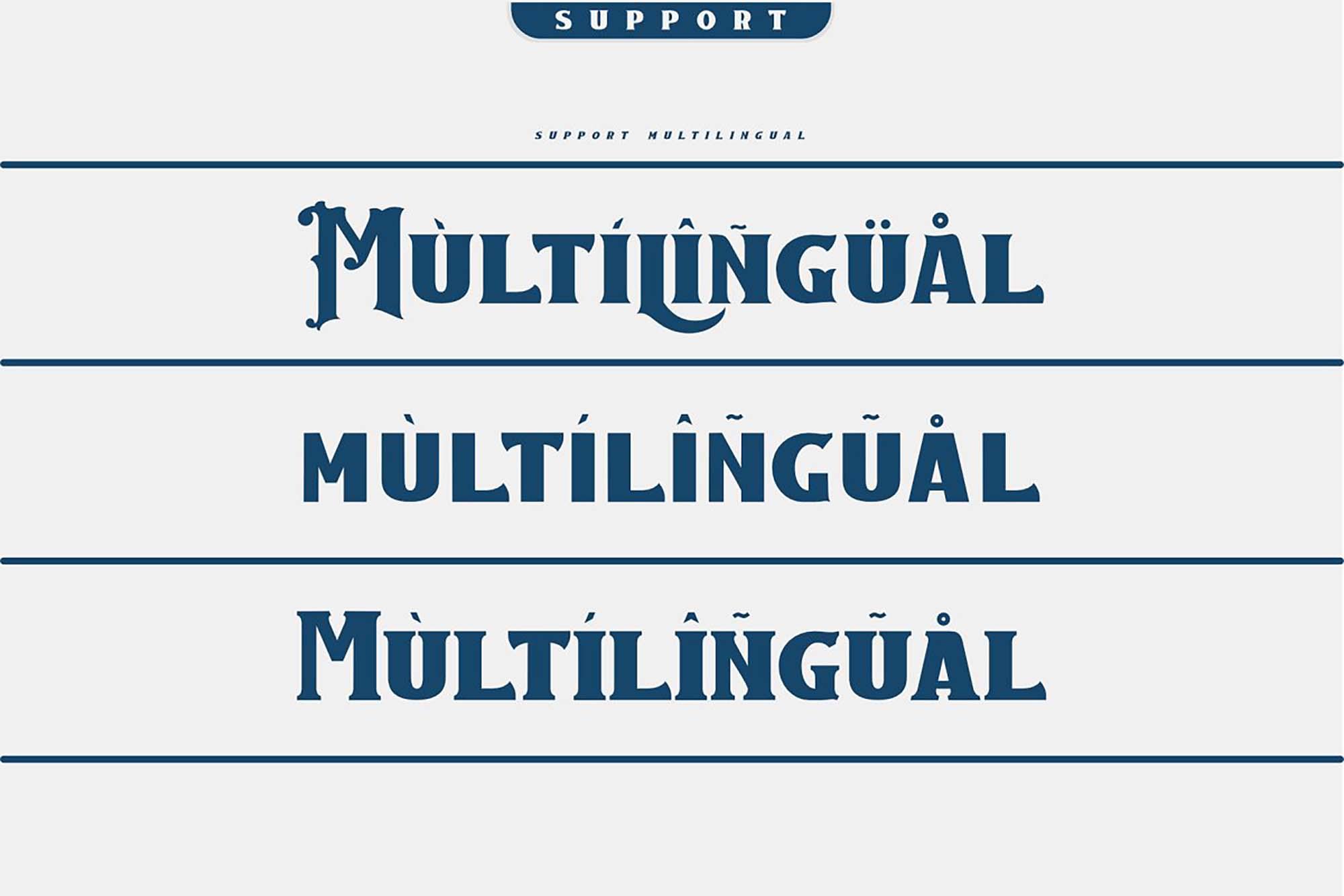 Caravan Font Multilingual