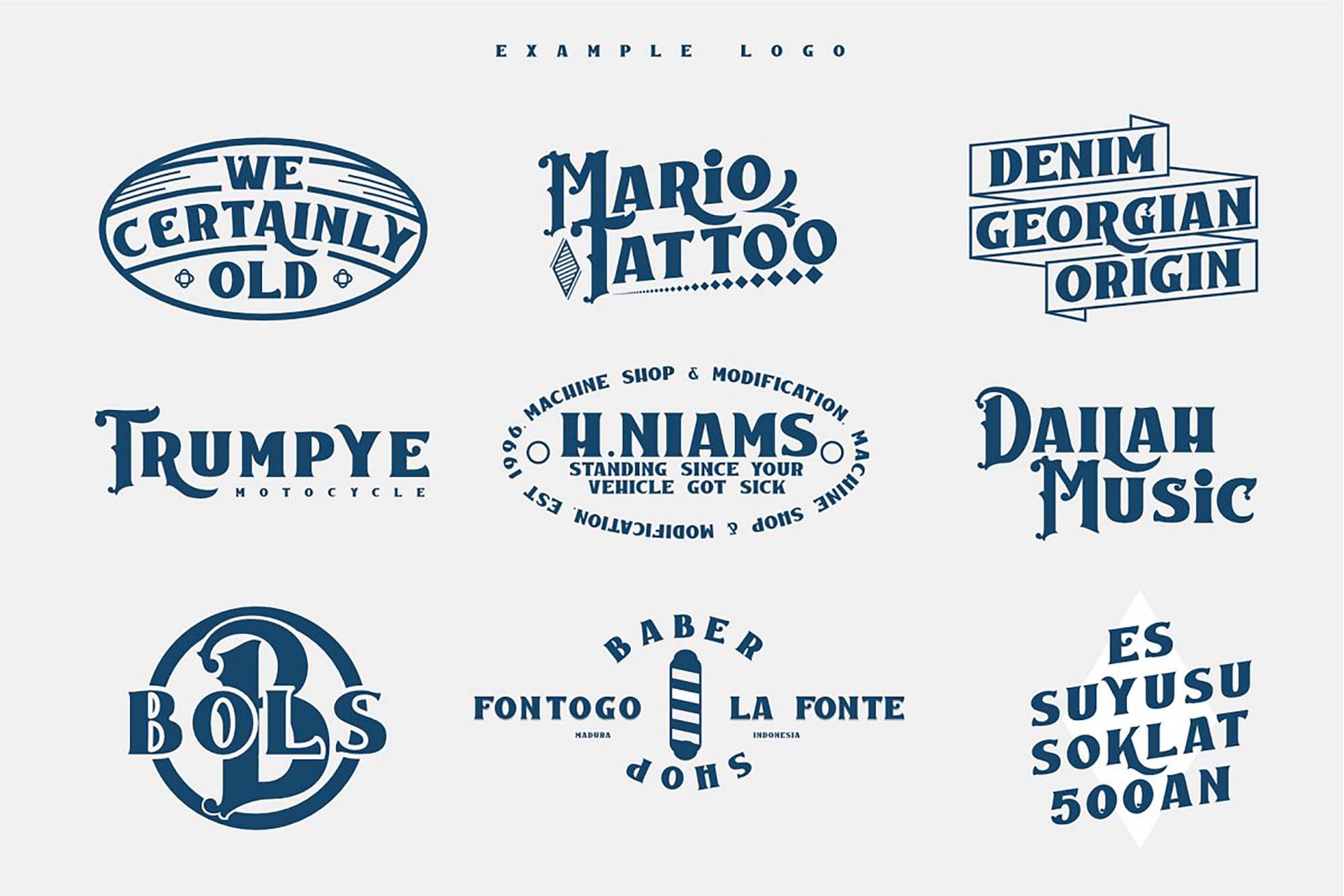 Caravan Font Badges