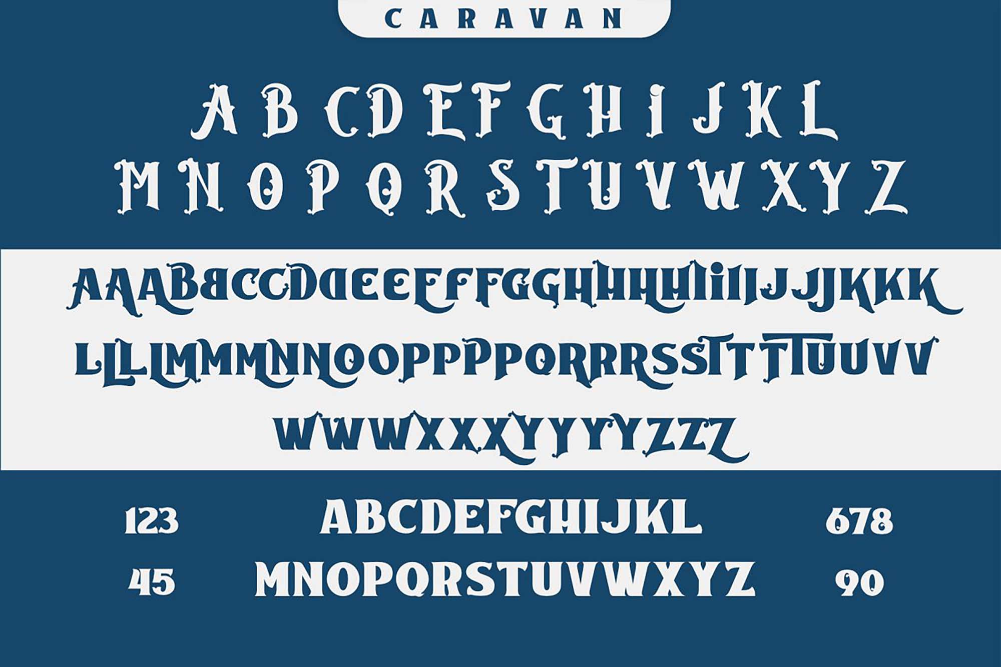 Caravan Font 7