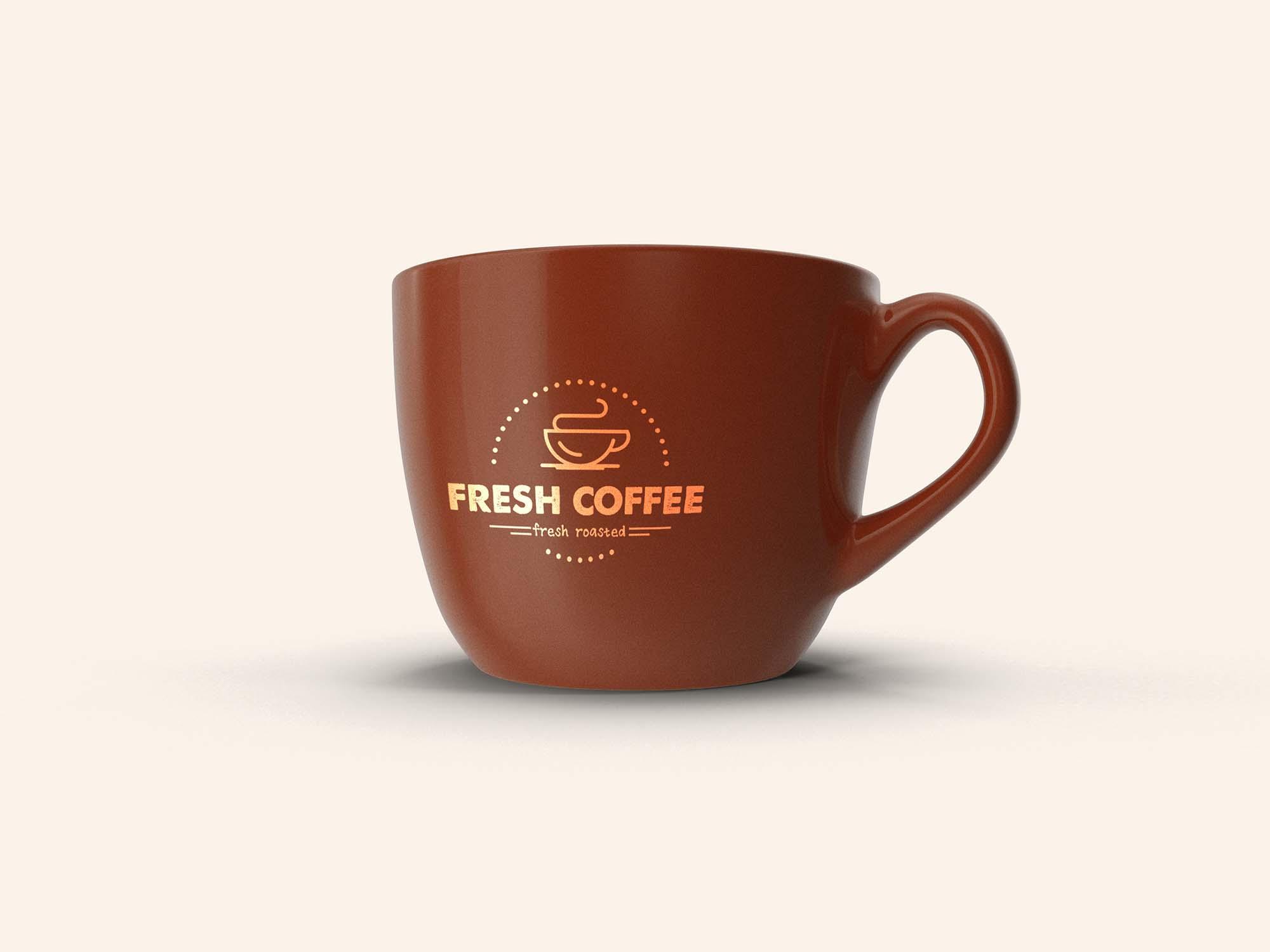 Ceramic Coffee Cup Mockup 2