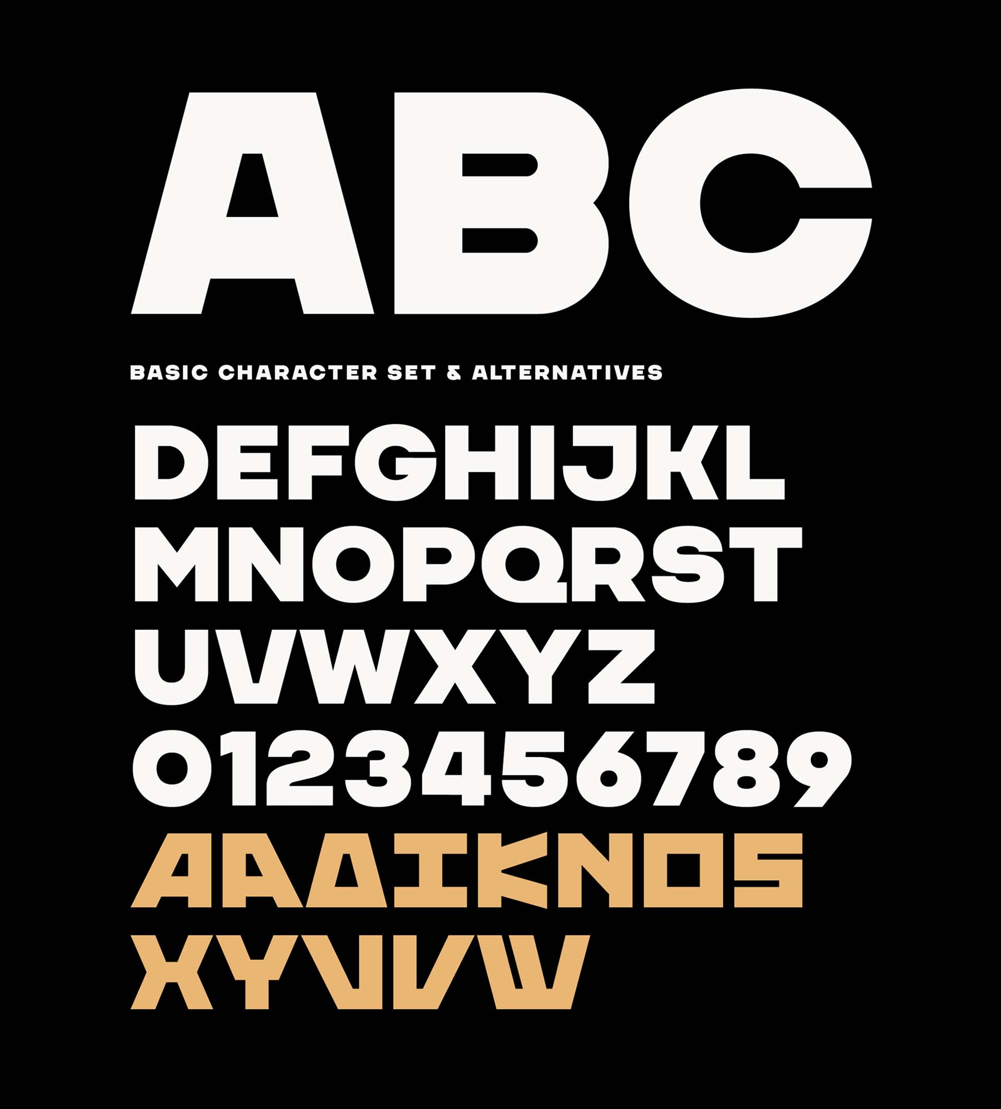 Chaney Sans Font Characters