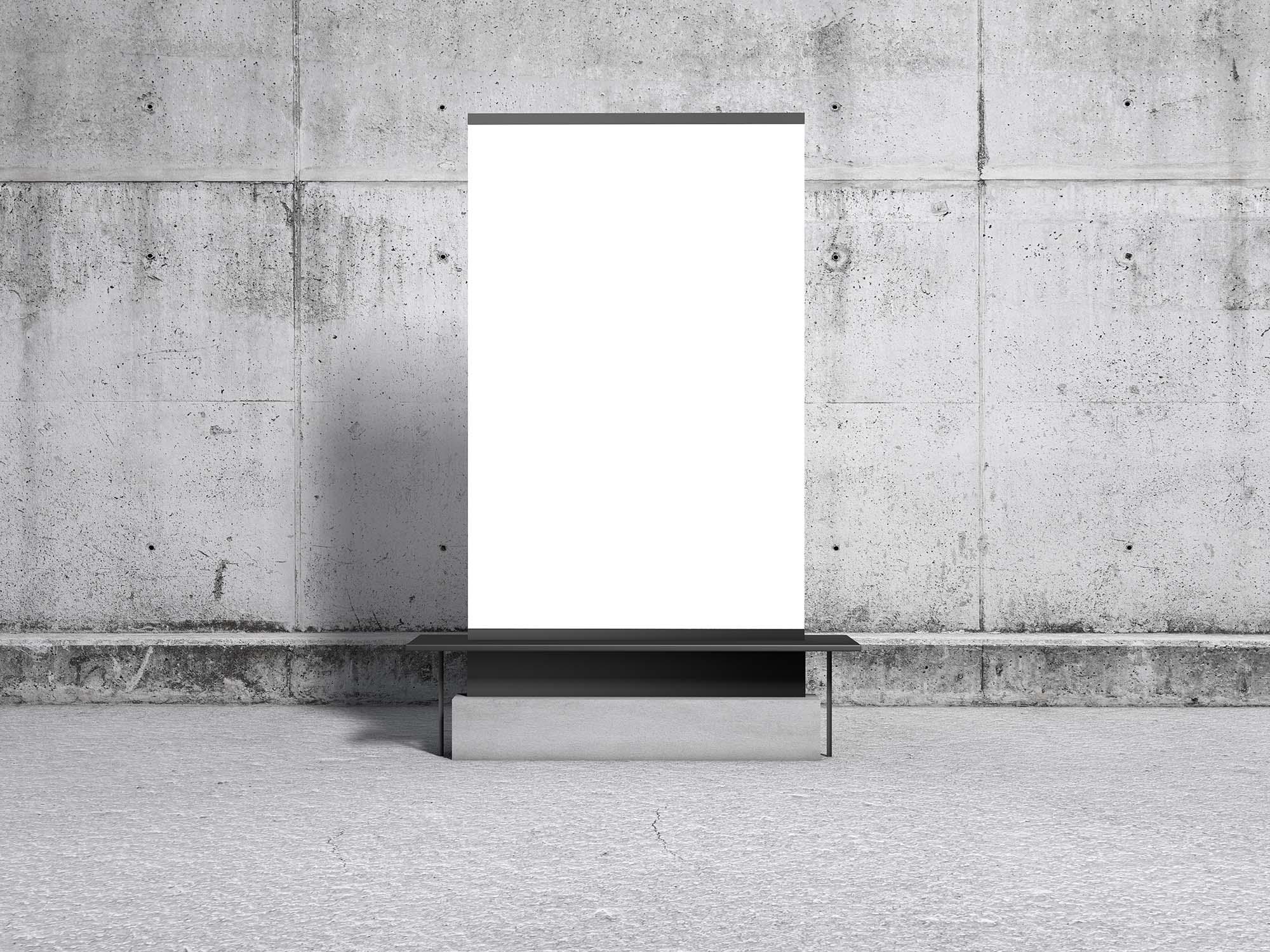 Concrete Environment Display Poster Mockup 2