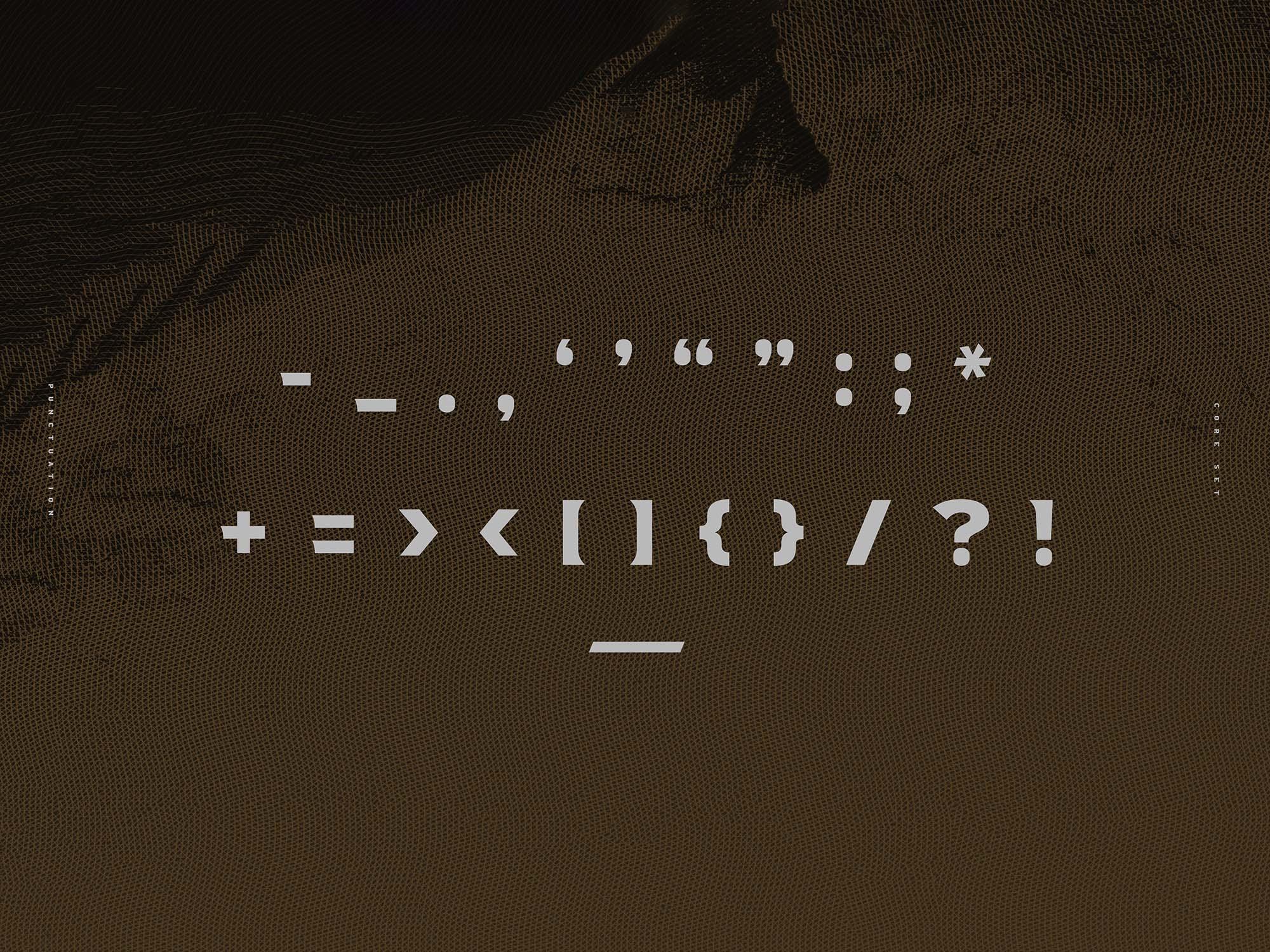 Crossfit Font Family Glyphs