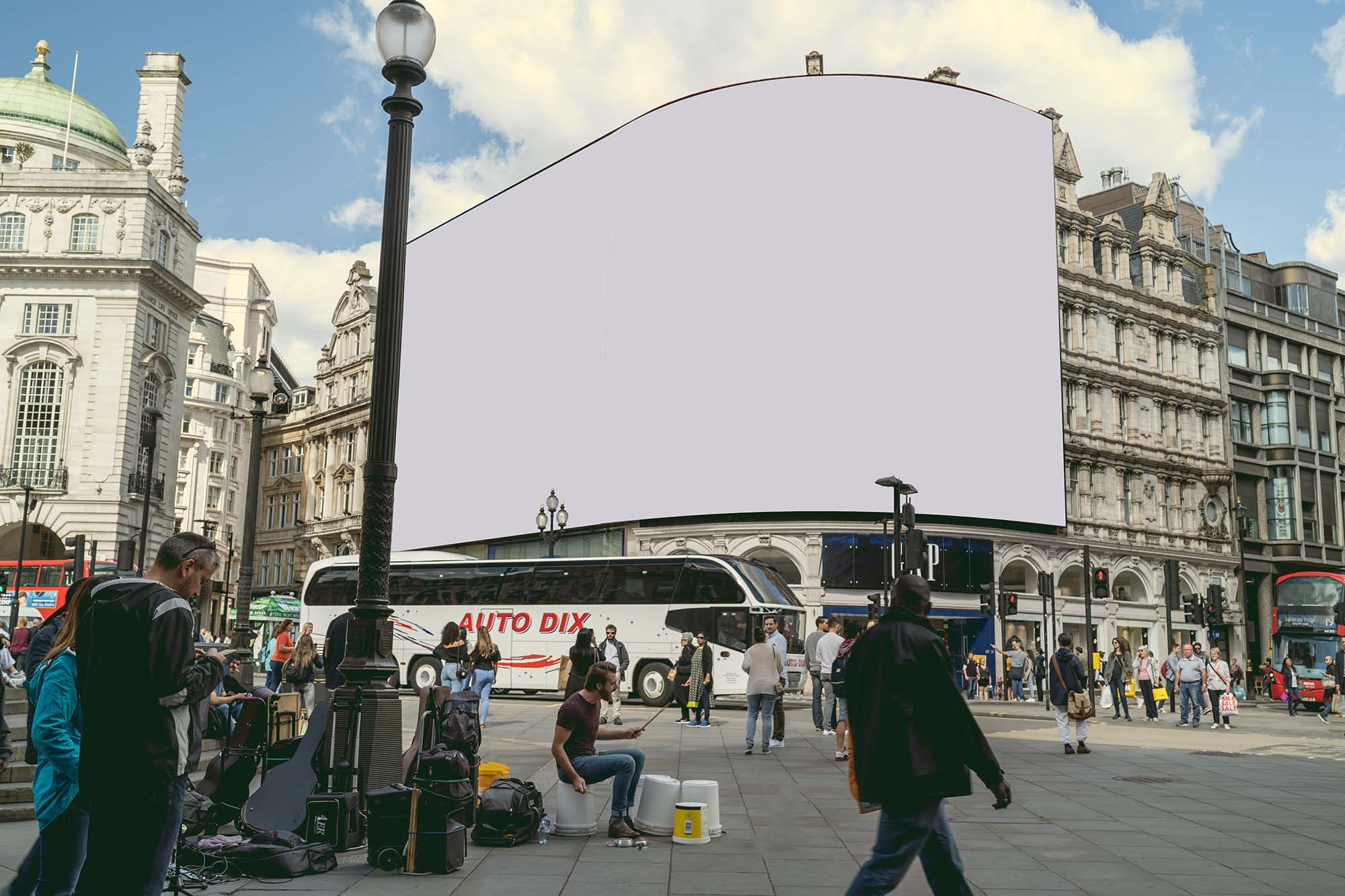 Curved Outdoor Advertising Mockup 2