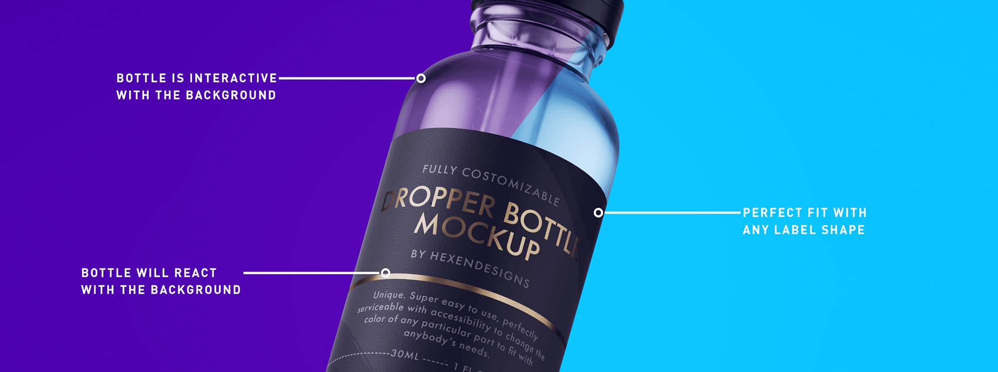 Dropper Bottle Mockup Features