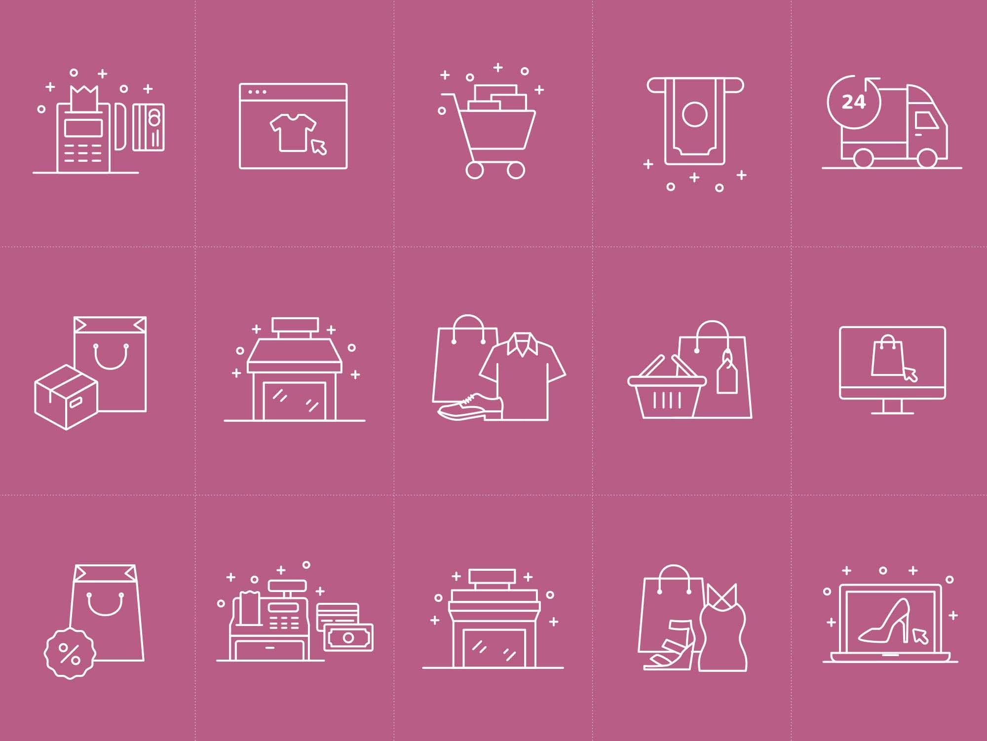 E-commerce Vector Icons Ai