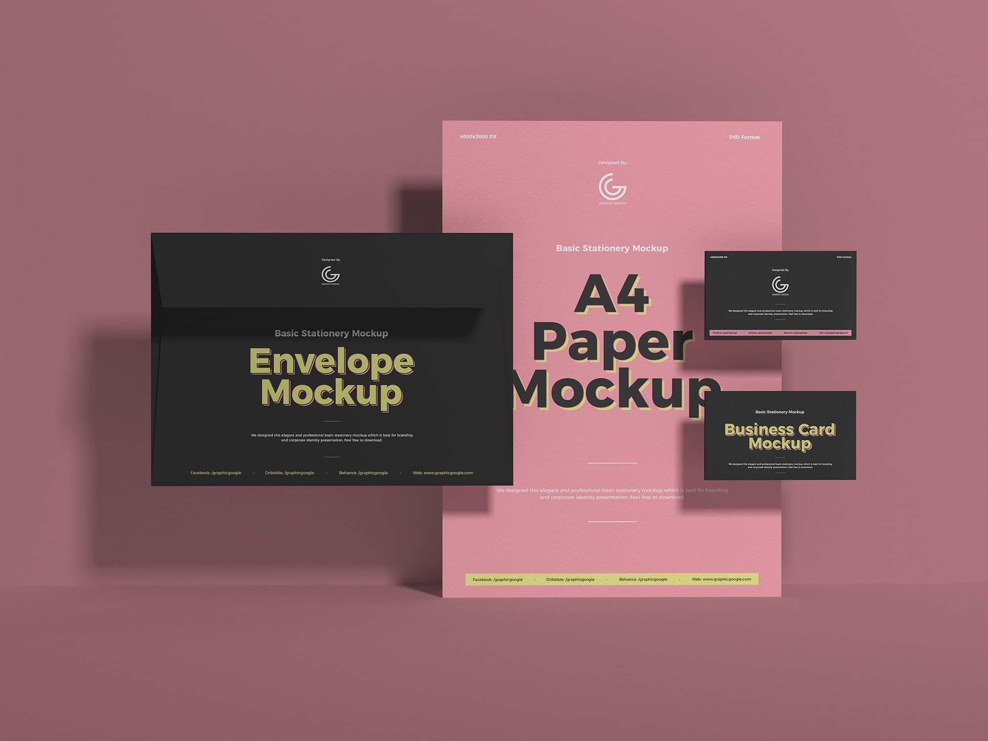 Elegant Stationery Mockup Design 2