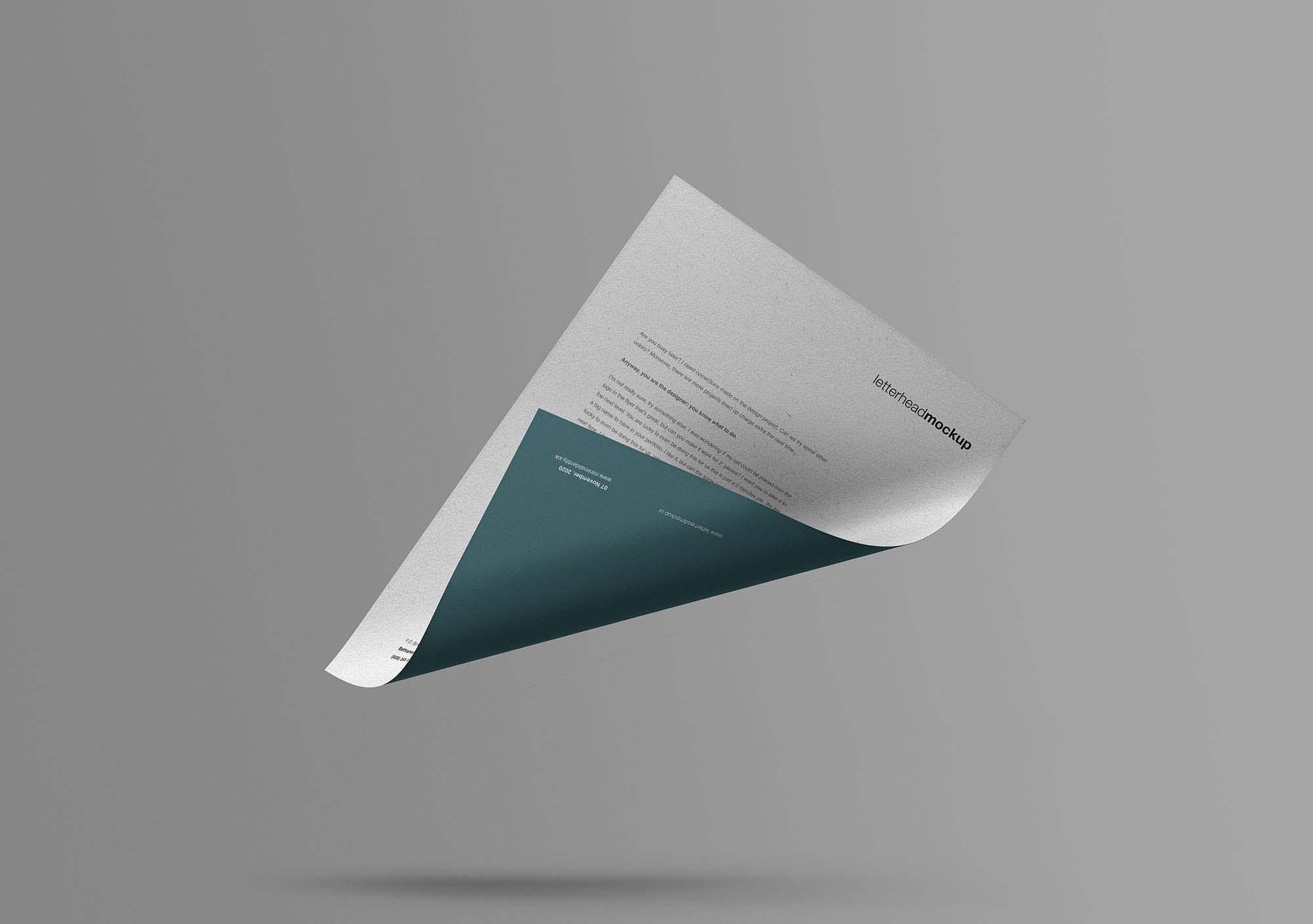 Floating A4 Paper Mockup