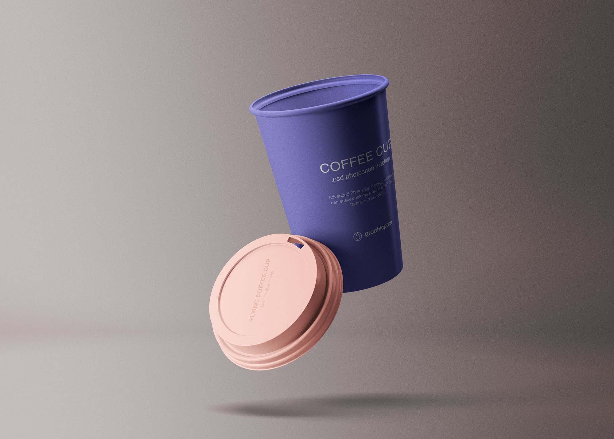 Flying Coffee Cup Mockup 2