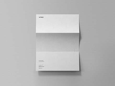 Folded Letter Mockup