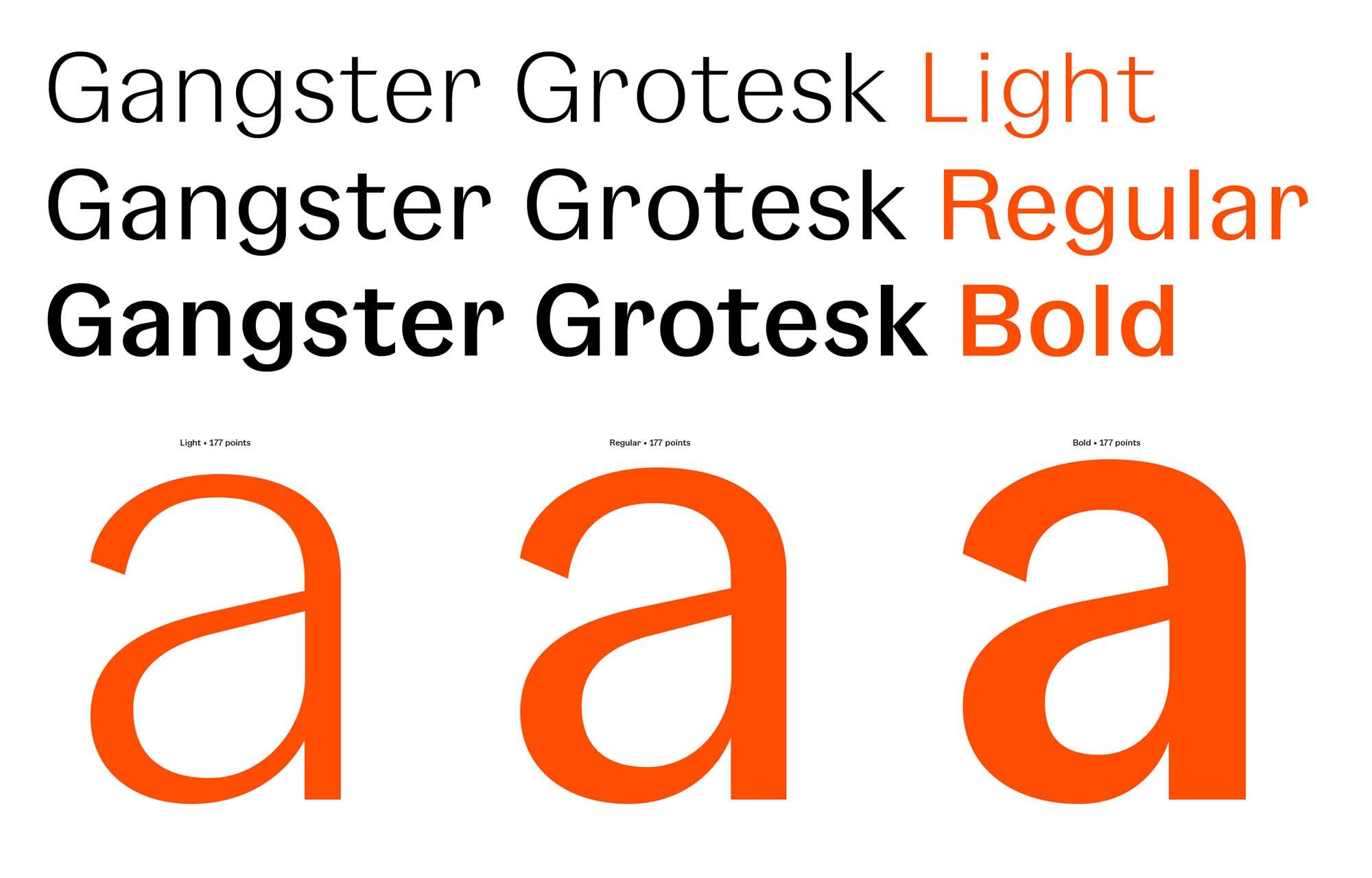 Gangster Grotesk Typeface 2