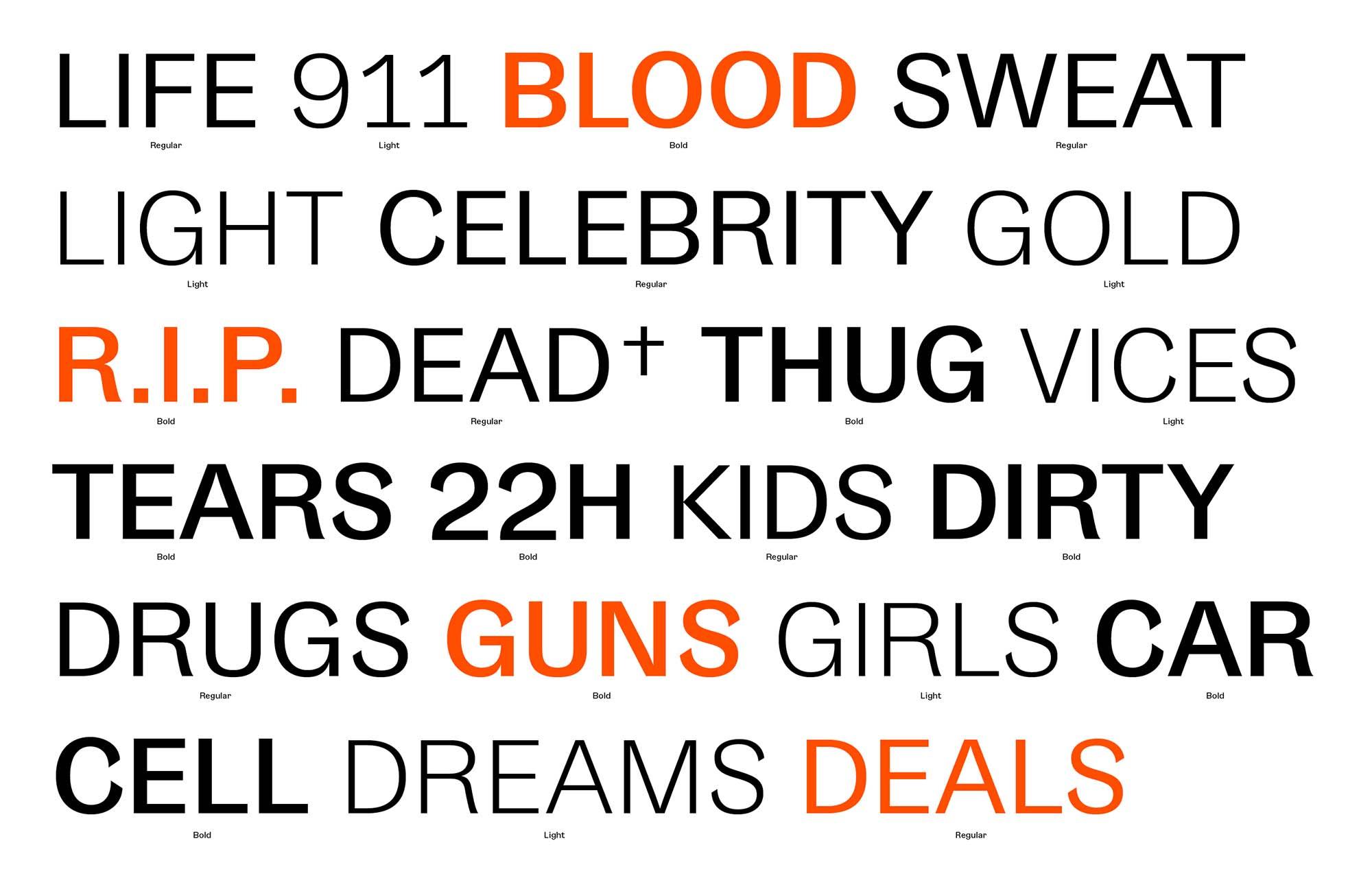 Gangster Grotesk Typeface Uppercase