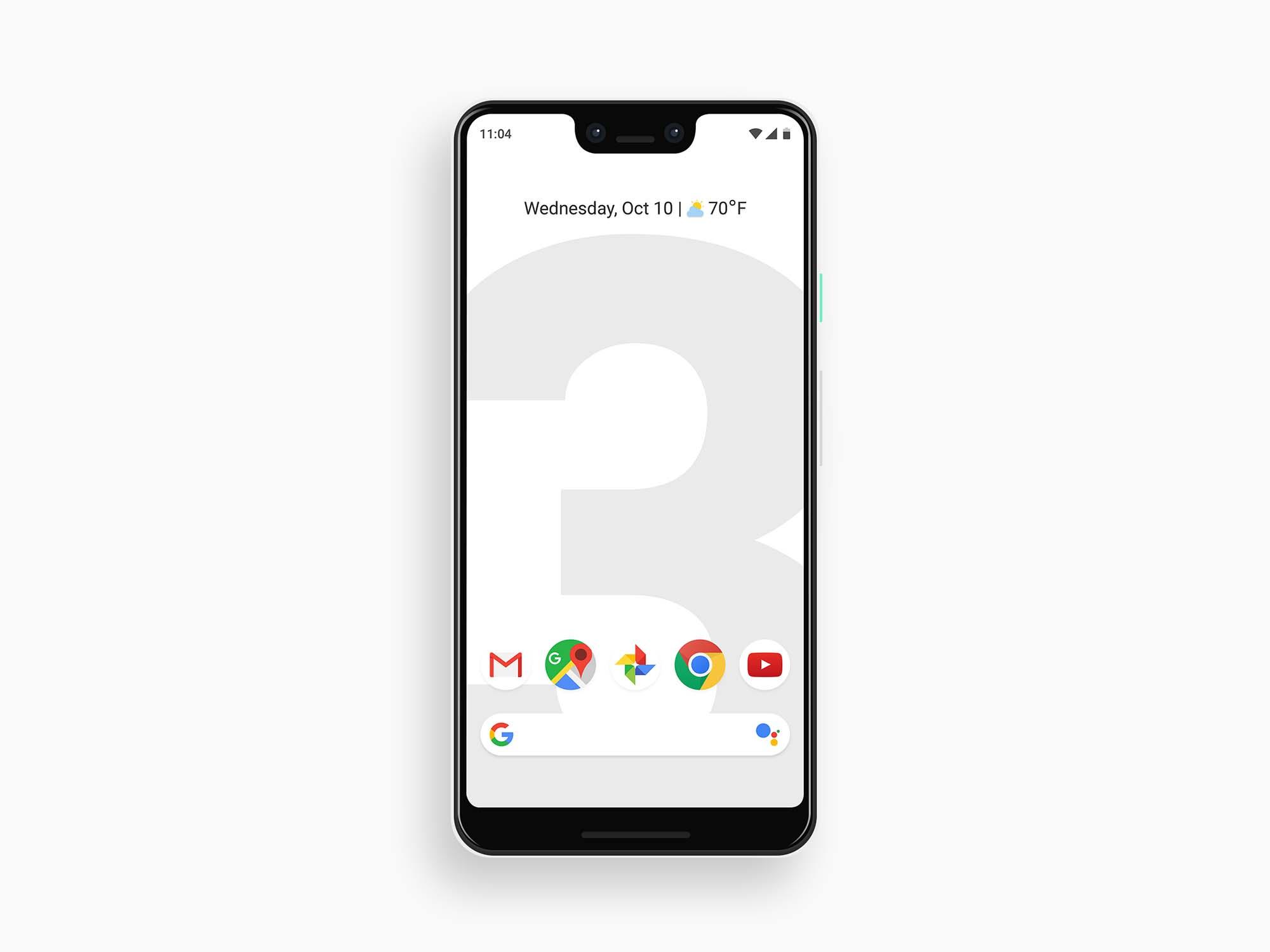 Google Pixel 3 XL Mockup - White