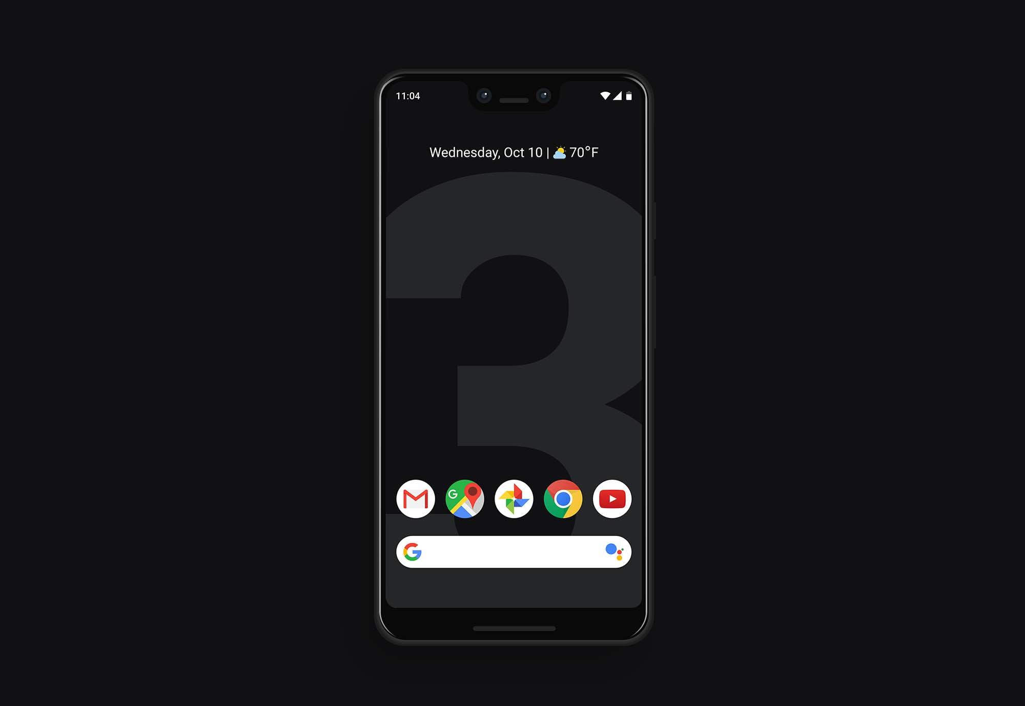 Google Pixel 3 XL Mockup