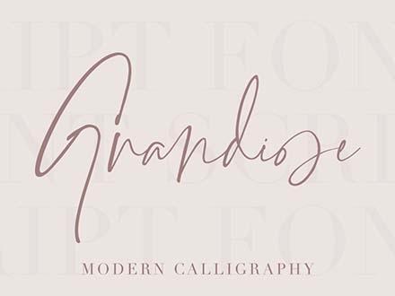 Grandiose Signature Font 6