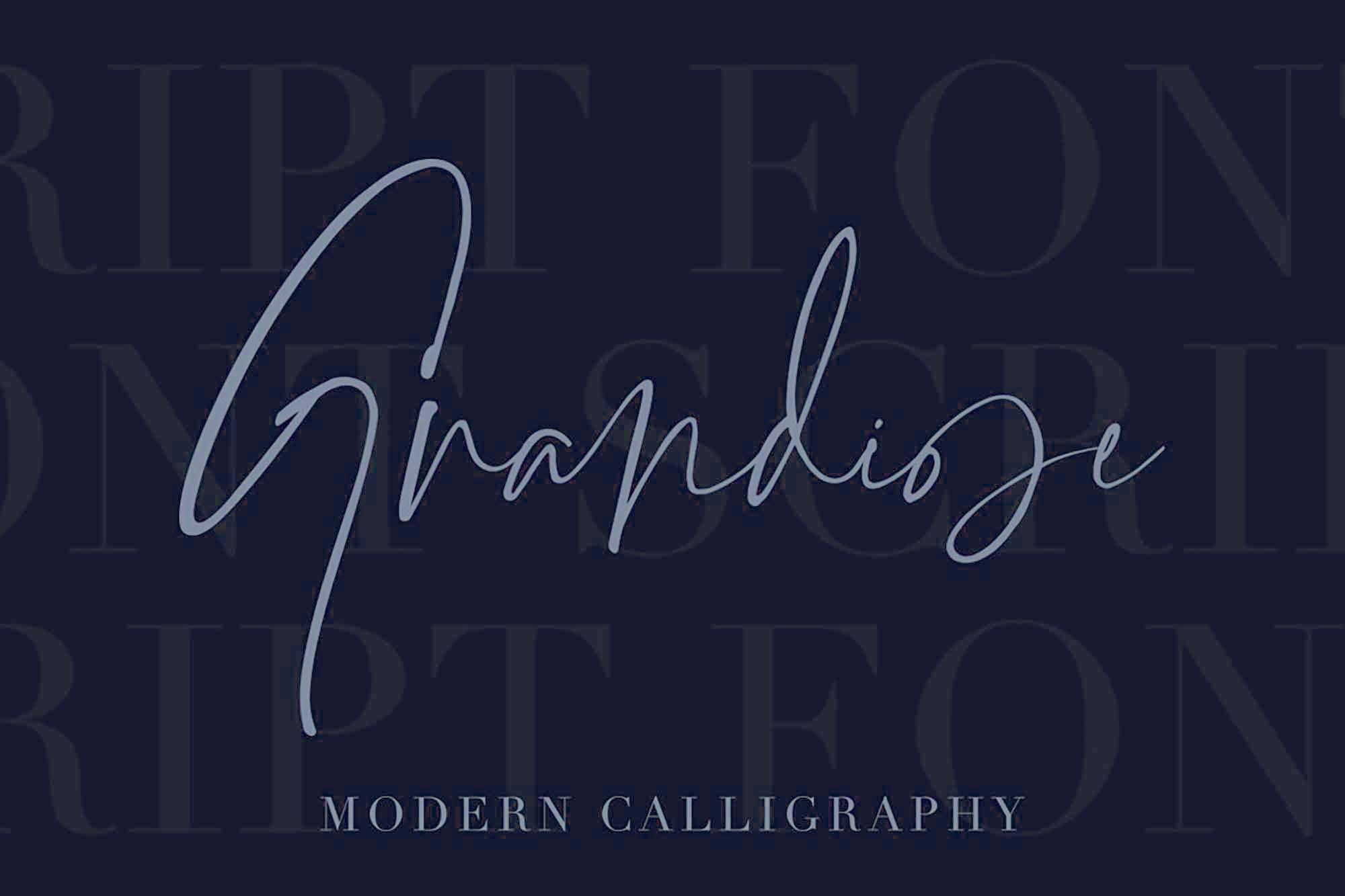 Grandiose Signature Font 7