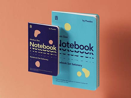 Gravity Notebooks Set Mockup