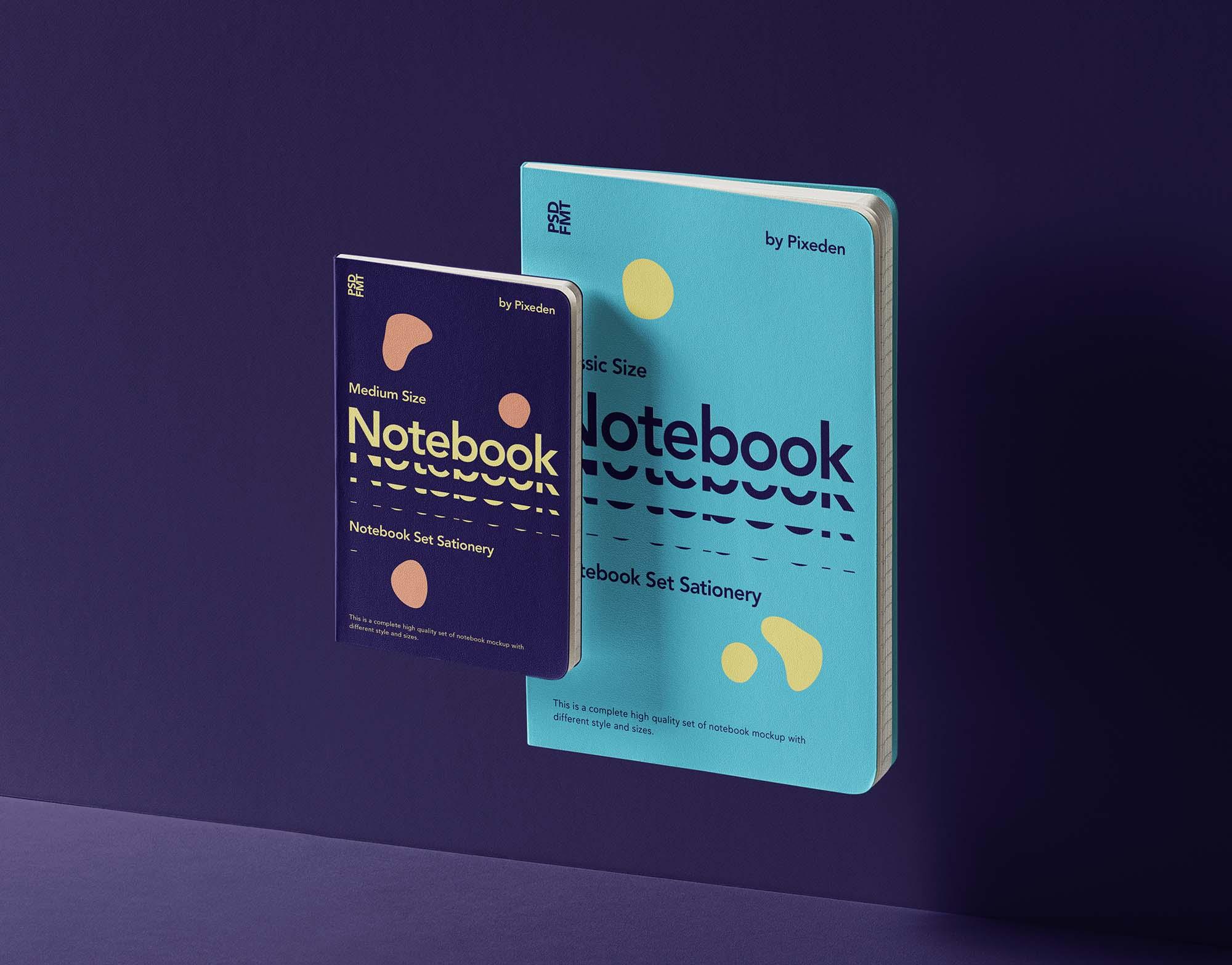 Gravity Notebooks Set Mockup 2