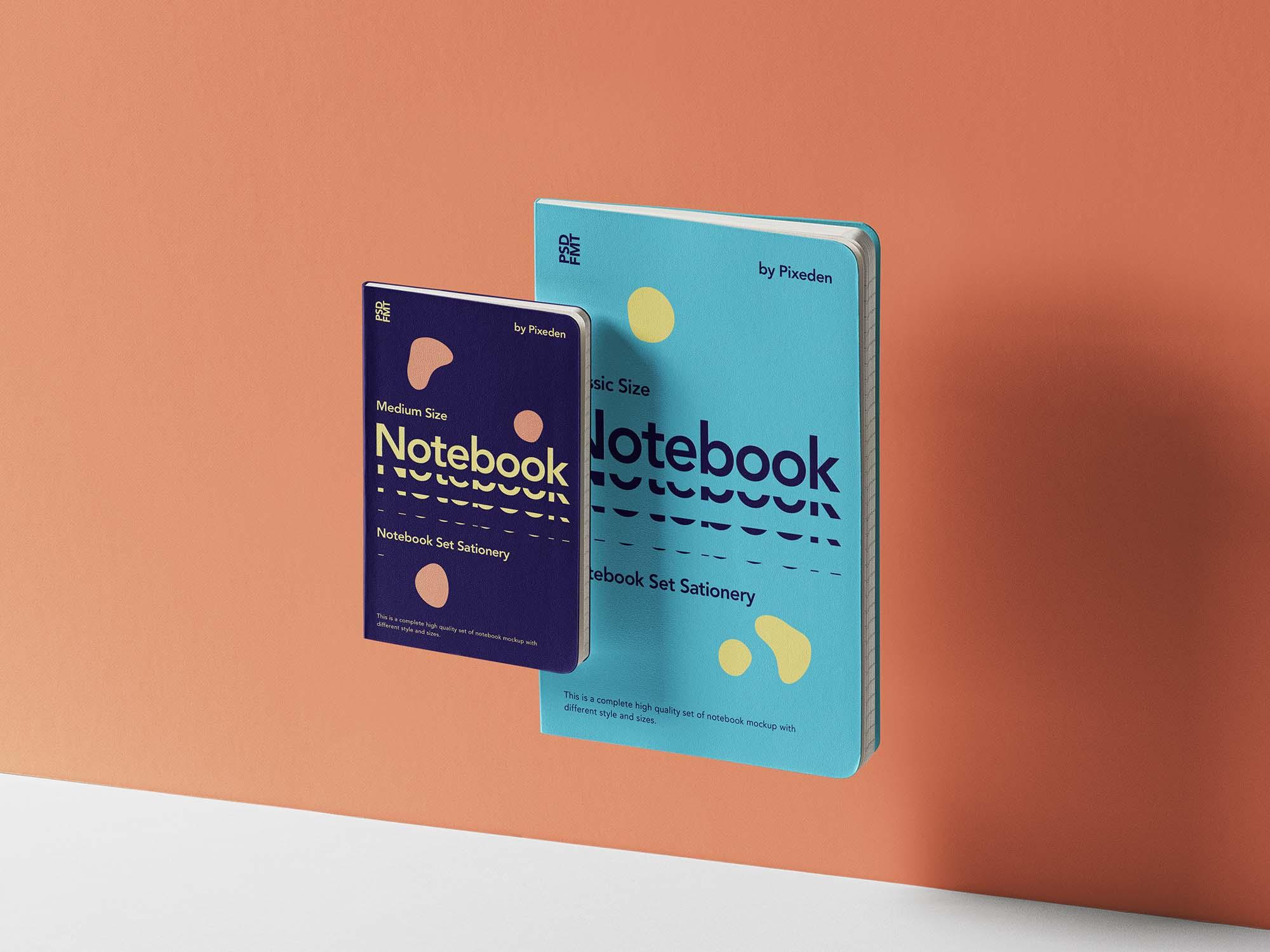 Gravity Notebooks Set Mockup