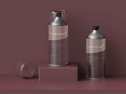 Hair Lover Bottle Mockup